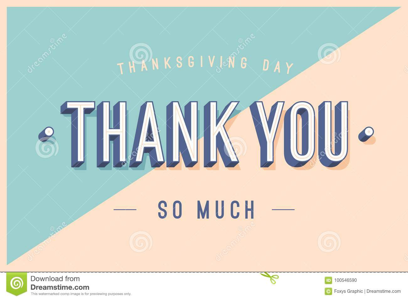 Greeting Card With Text Thank You So Much Stock Vector ...