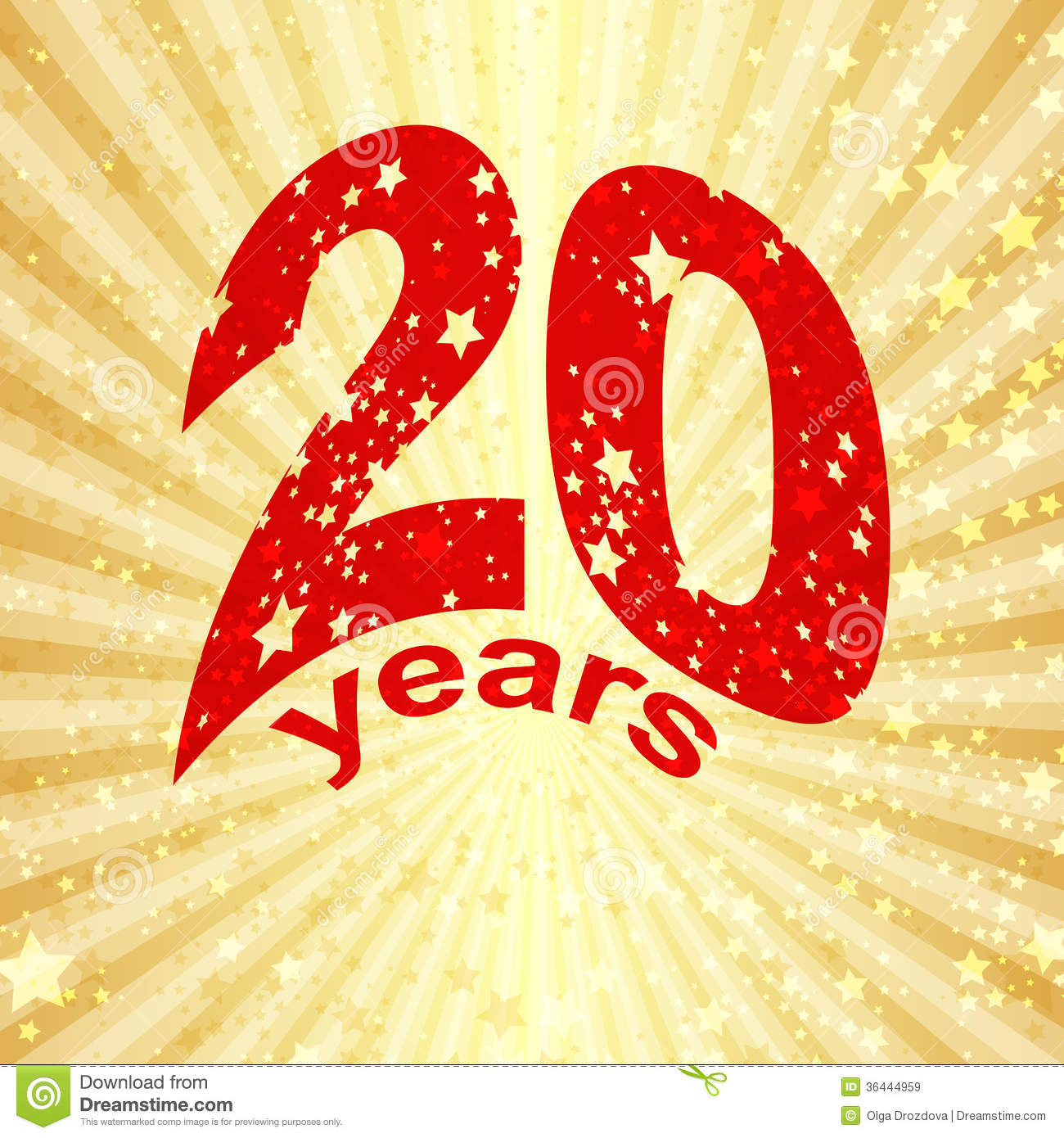 Greeting card with the 20th anniversary stock vector illustration greeting card with the 20th anniversary biocorpaavc Choice Image