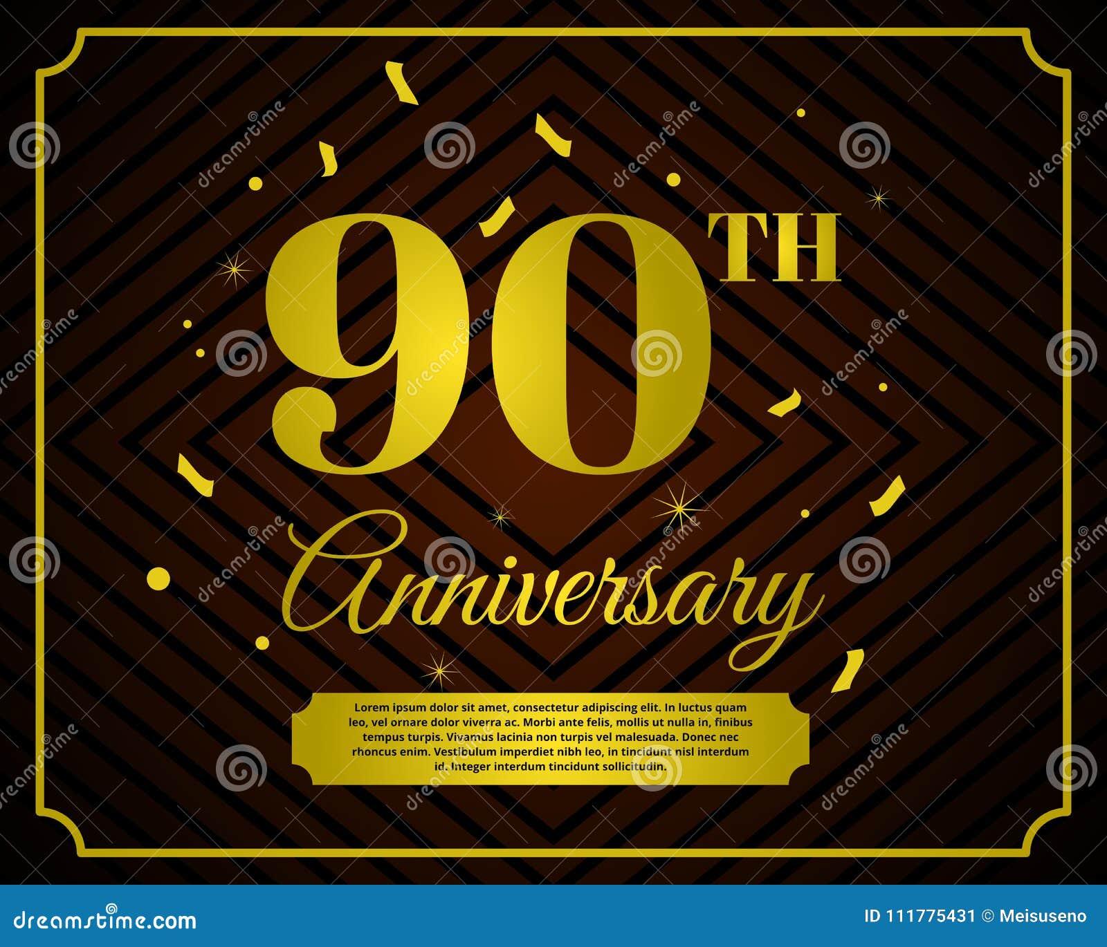 90 anniversary celebration card template