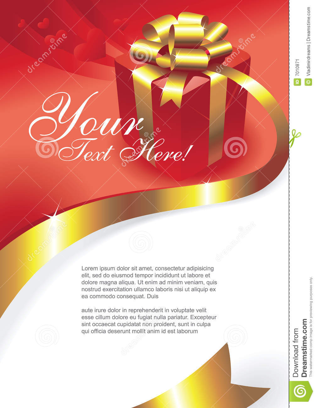 Greeting Card Vector Image Image 7010871 – Vector Birthday Card