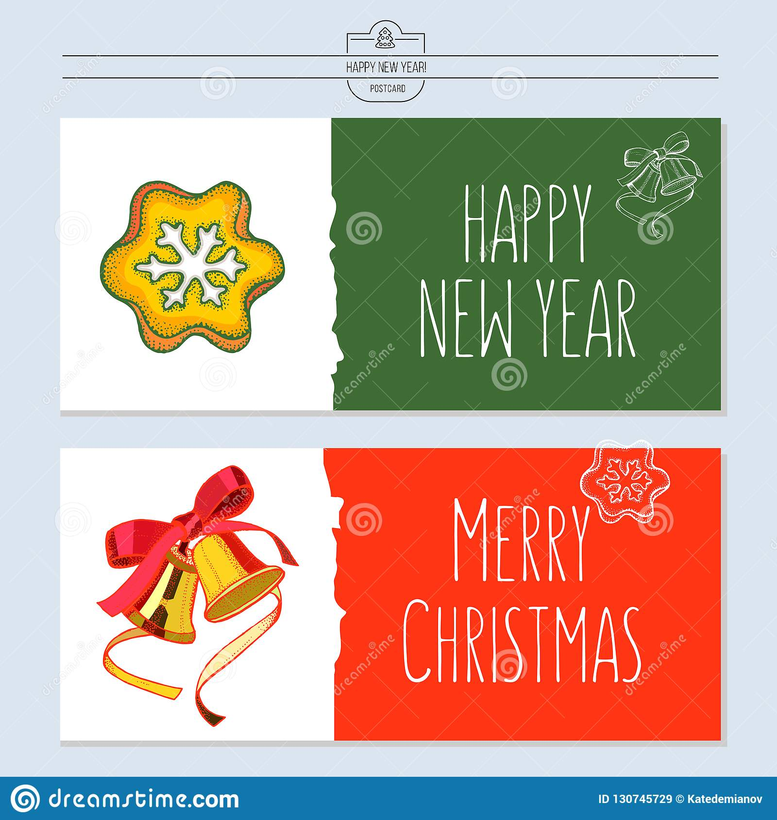 Greeting Card, Vector Illustration. With The New Year ...