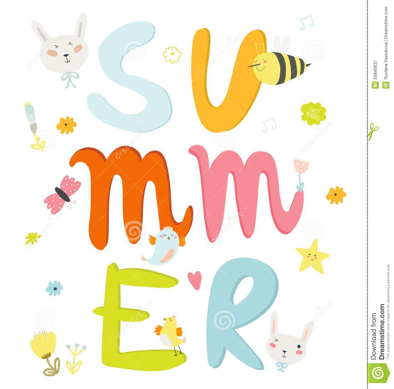 Greeting card with vector summer typographic stock vector greeting card with vector summer typographic m4hsunfo