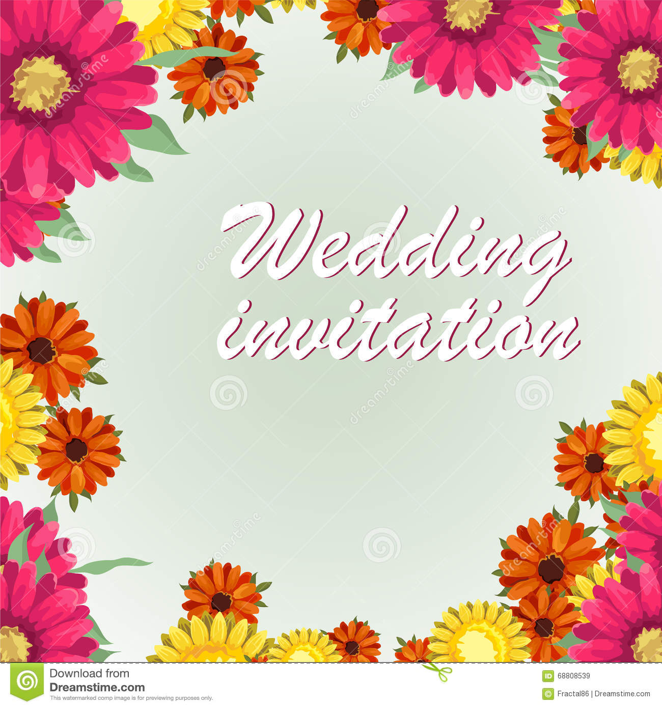 Greeting Card Watercolor Can Be Used As Invitation Card For