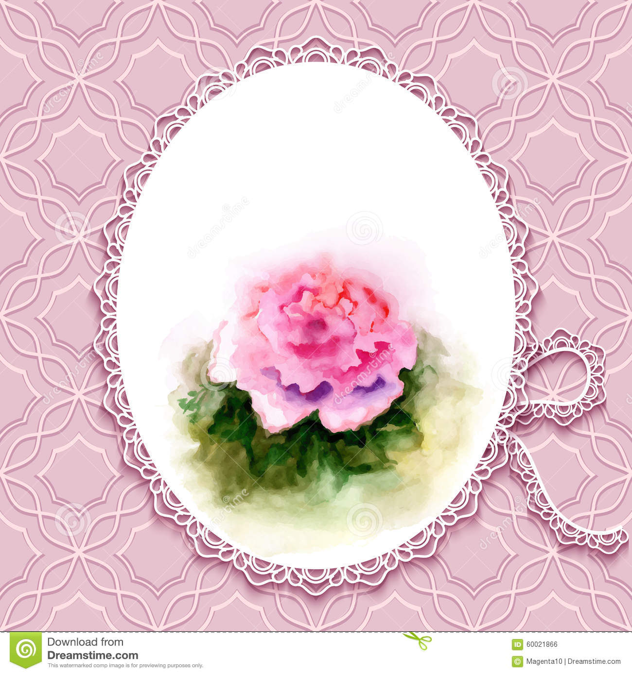 Greeting card with watercolor rose stock vector illustration of greeting card with watercolor rose m4hsunfo