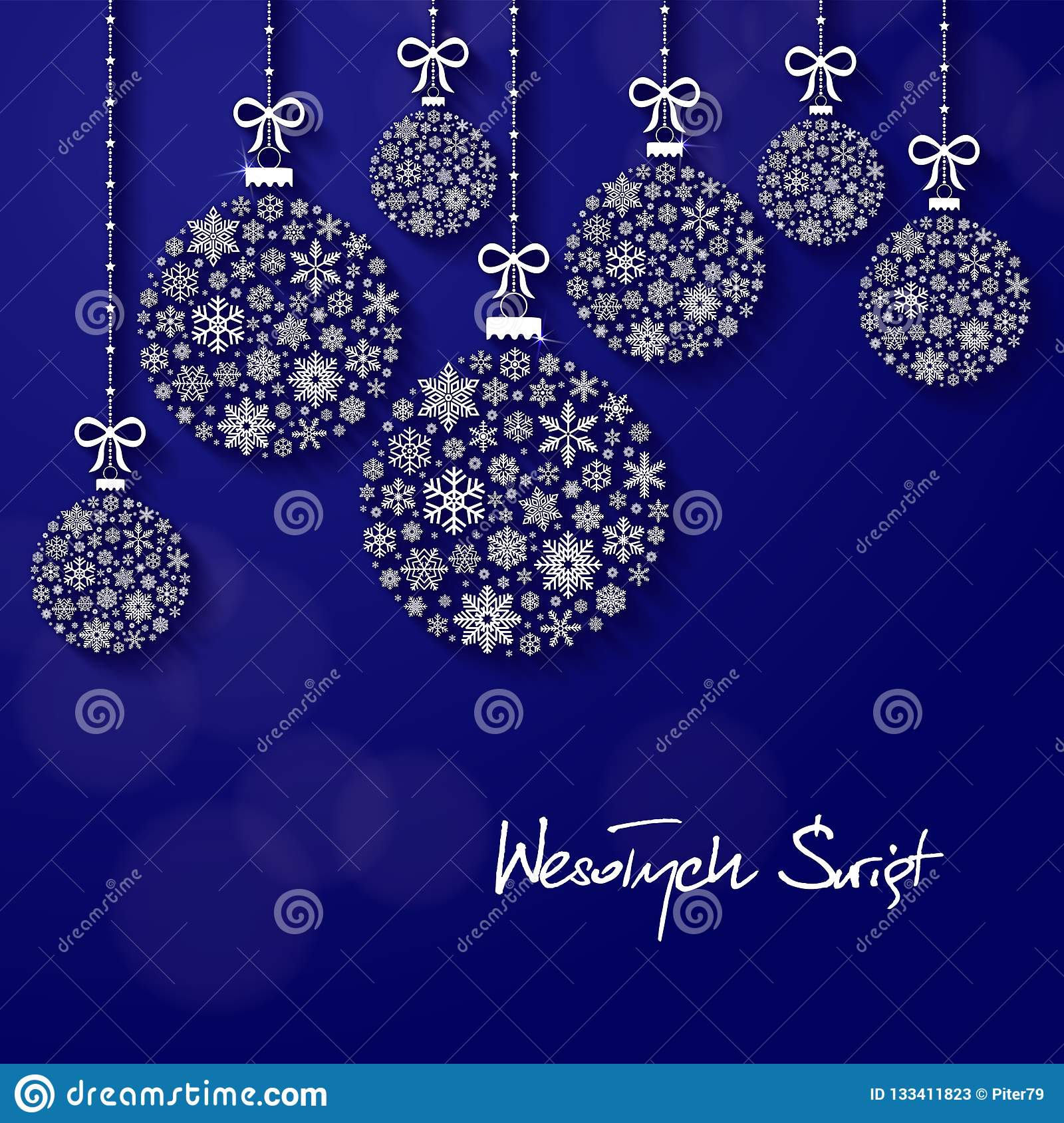 Merry Christmas In Polish.Greeting Card With The Words Merry Christmas In Polish Stock