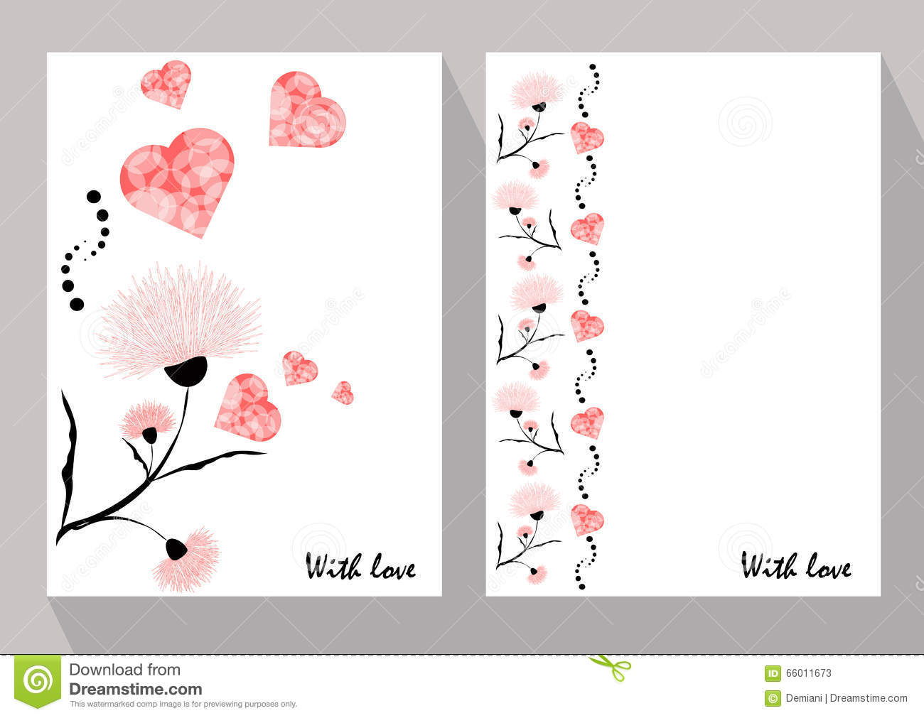 Greeting cards with abstract pink flowers in ethnic style for de greeting cards with abstract pink flowers in ethnic style for de kristyandbryce Image collections