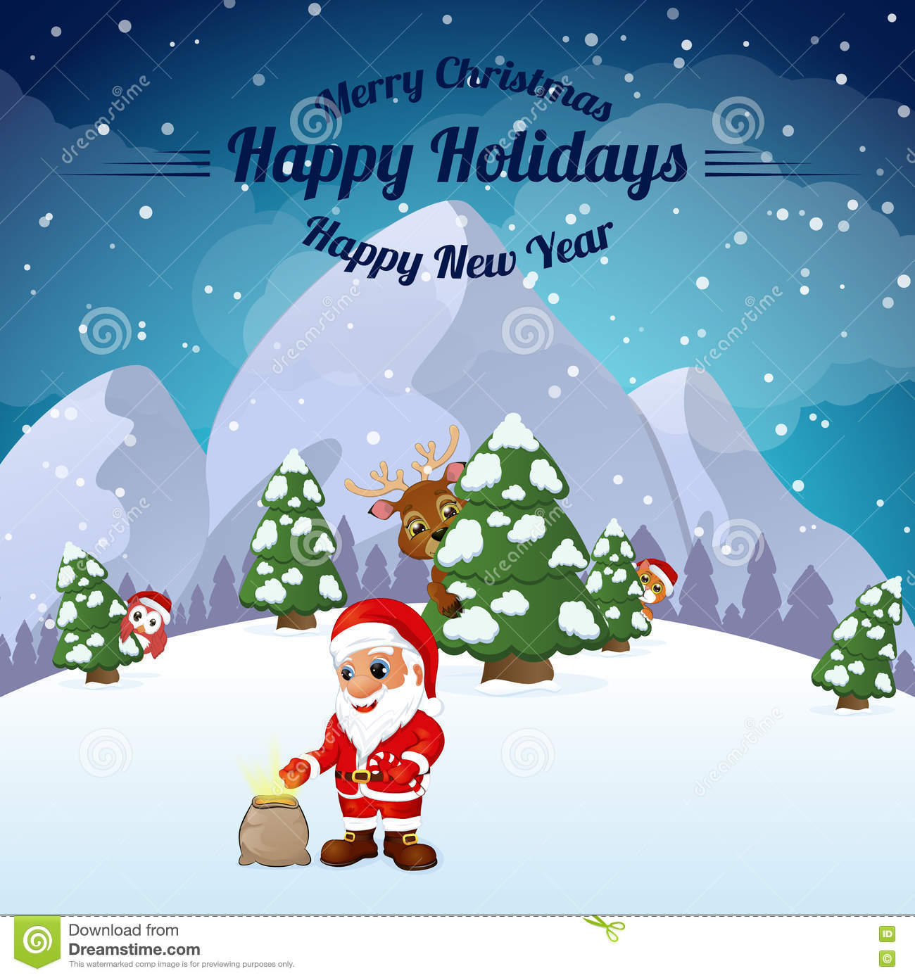 Greeting cards happy new year and merry christmas stock vector greeting cards happy new year and merry christmas m4hsunfo