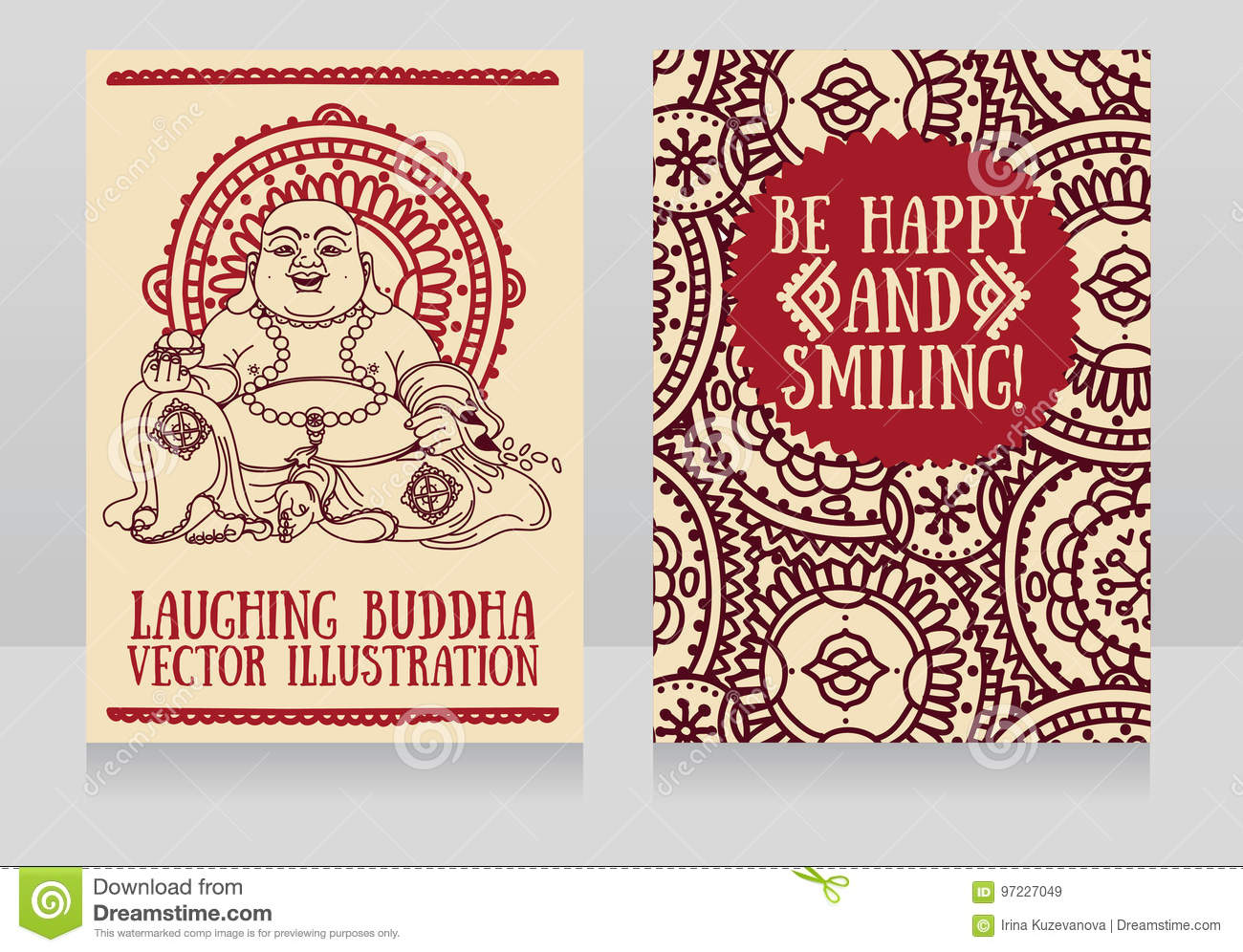 Greeting cards with Laughing Buddha