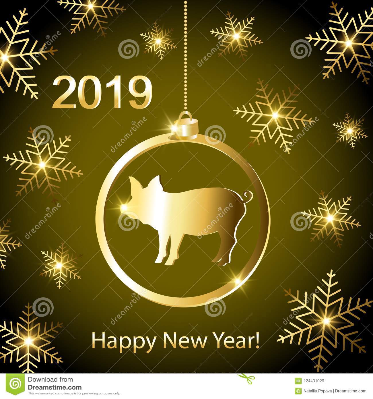 Greeting cards with a new year of the pig stock illustration download greeting cards with a new year of the pig stock illustration illustration of abstract m4hsunfo