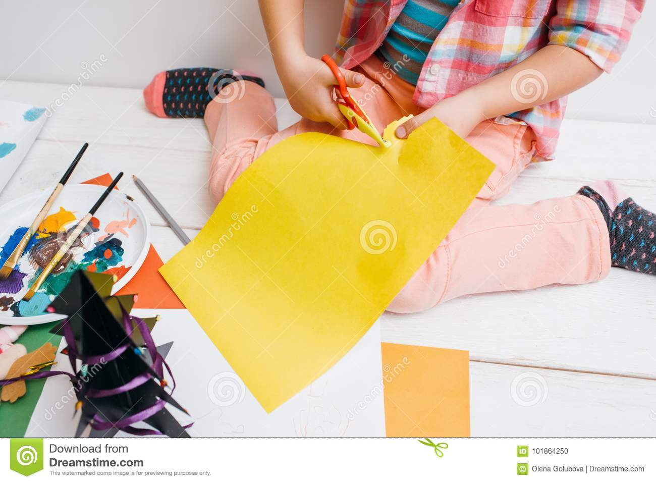 Greeting Cards Preparation Artwork In Process Stock Photo Image