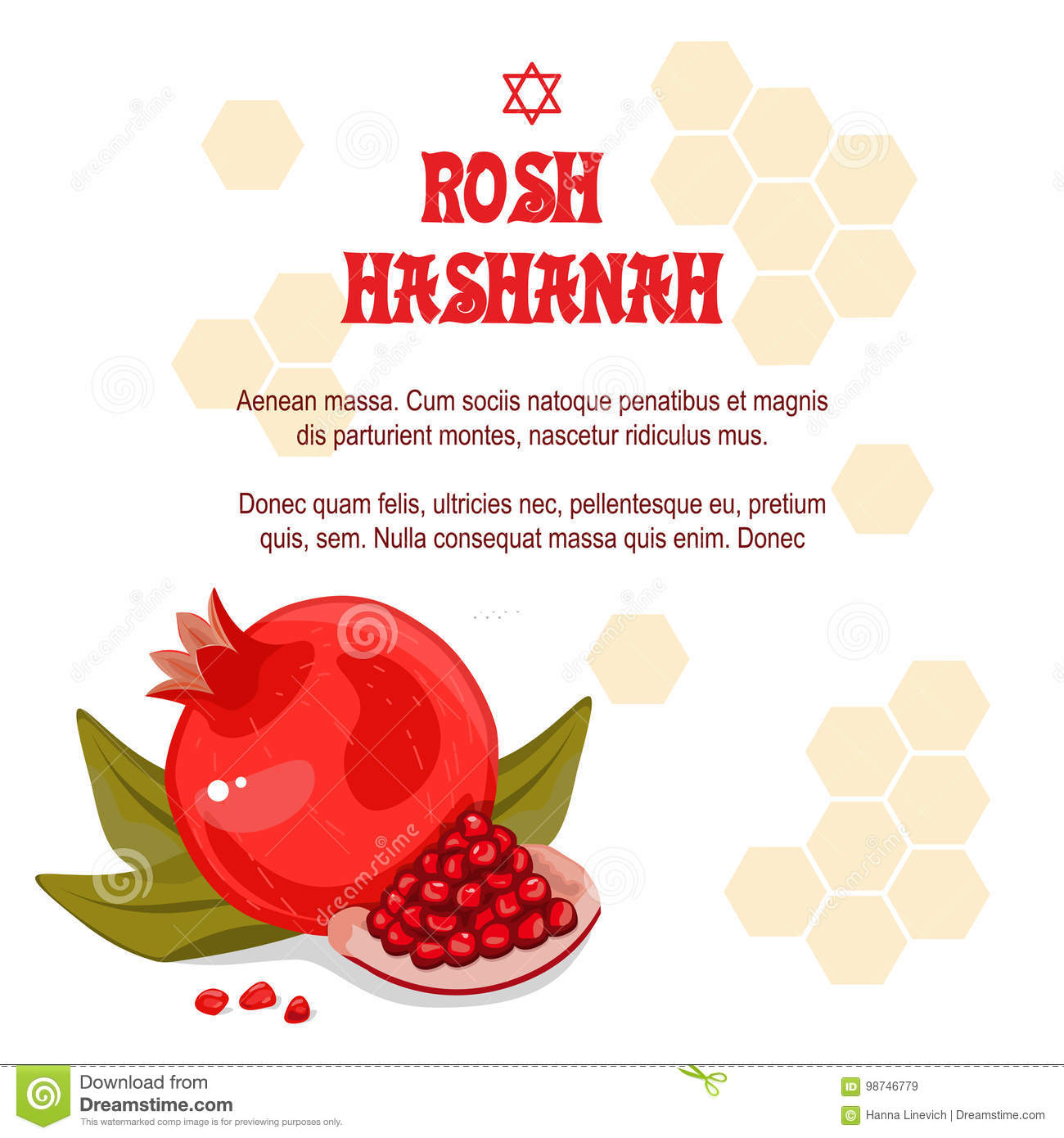 Greeting Cards Rosh Hashanah Jewish New Year. The Design With A Pen ...