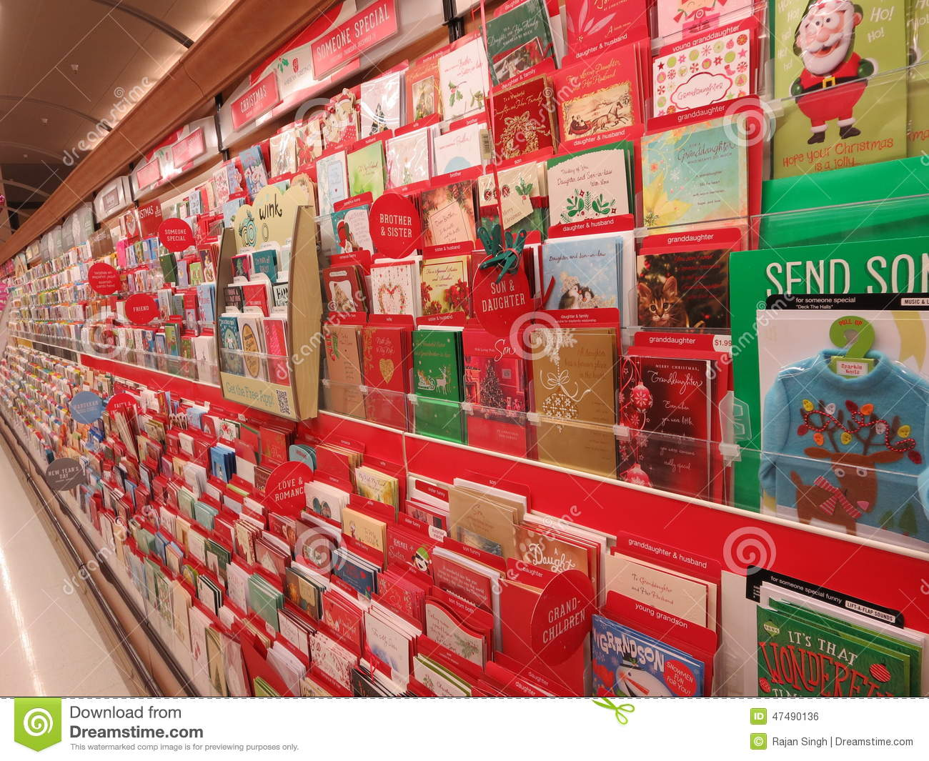 Greeting Cards For Sale Editorial Photo Image Of Aisle 47490136