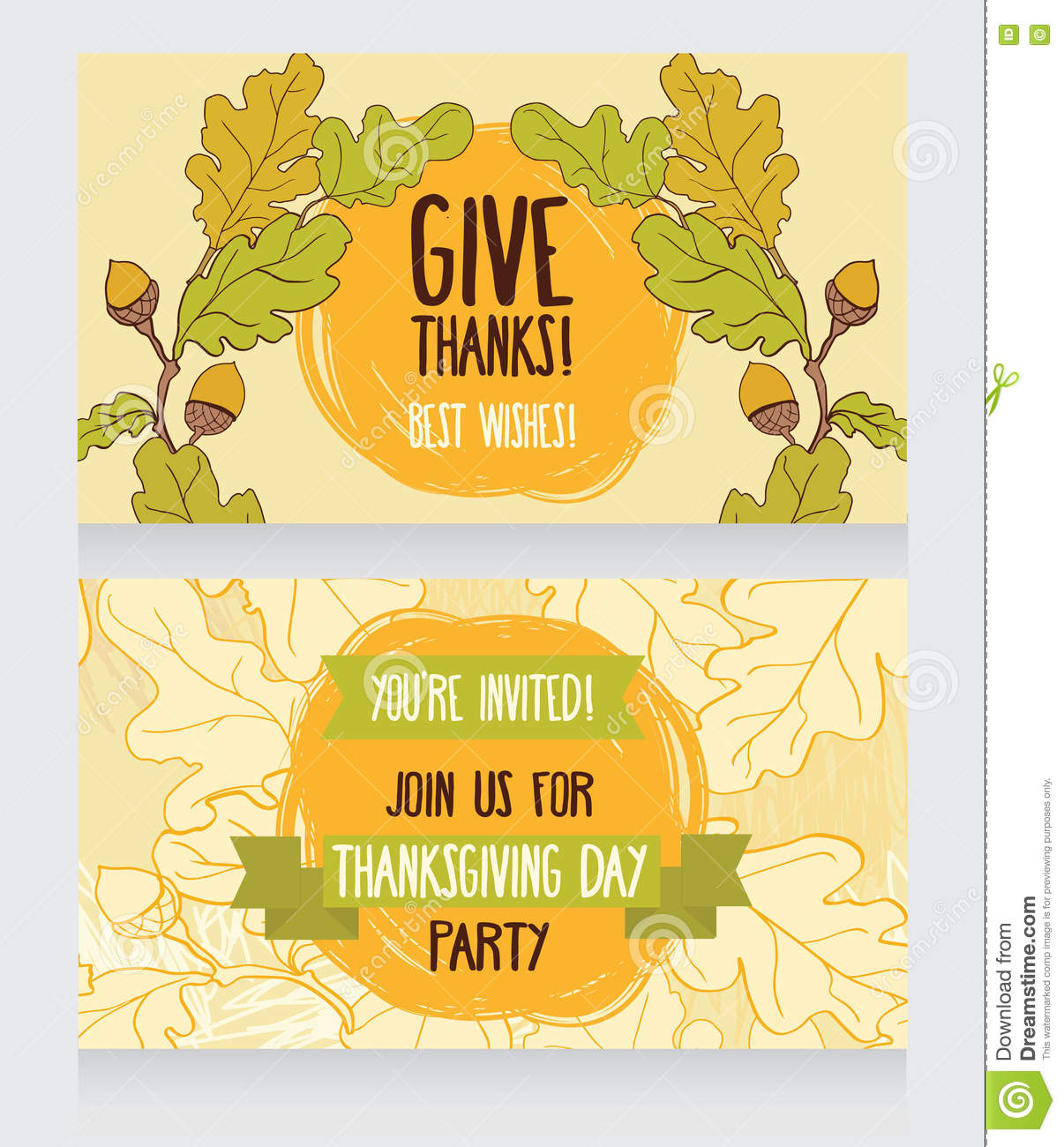 Greeting cards for thanksgiving day stock vector illustration of greeting cards for thanksgiving day cute branch kristyandbryce Images