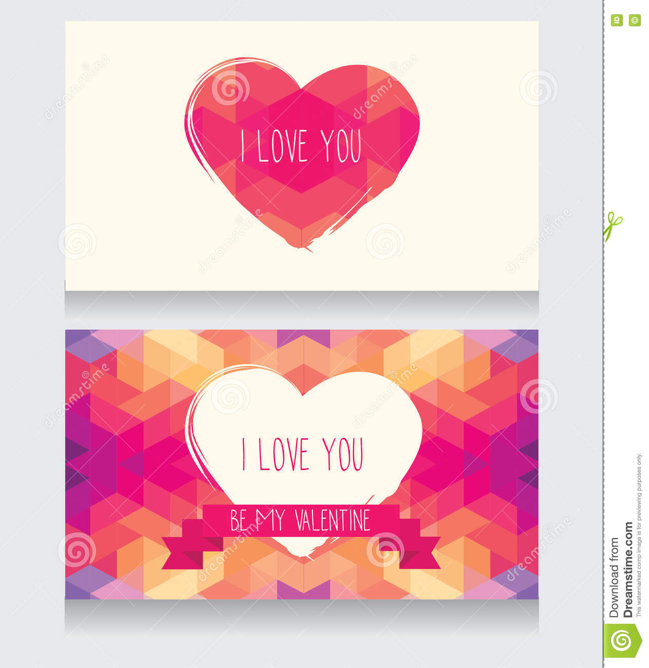 Greeting Cards For Valentine S Day Stock Vector