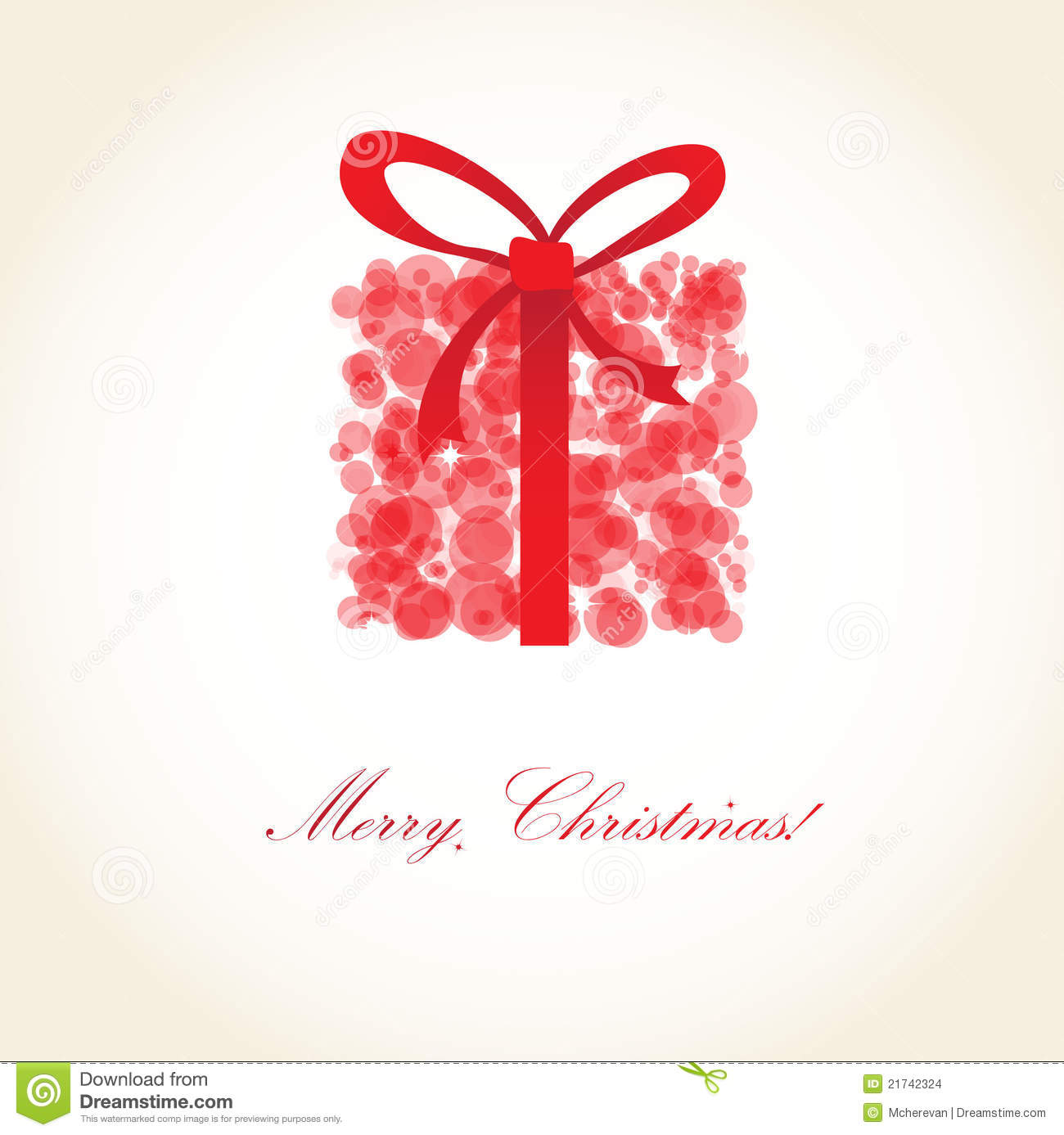 Greeting Christmas Card With Present Box Stock Vector - Illustration ...