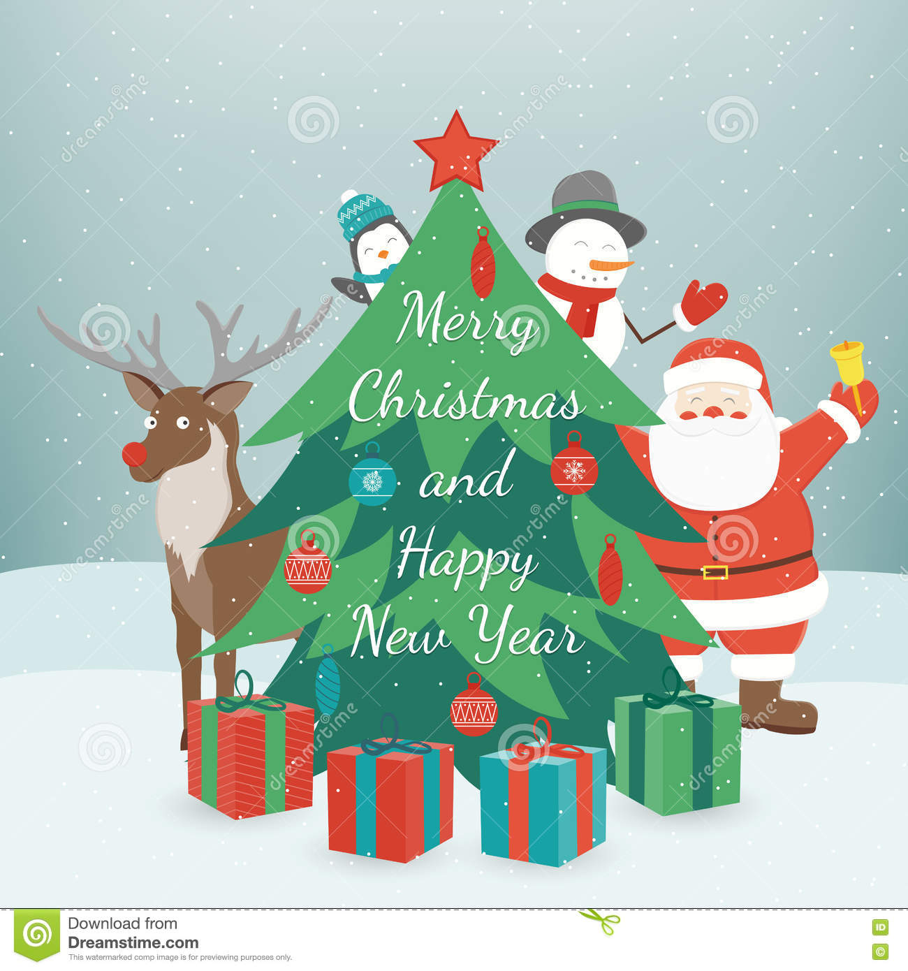 download greeting christmas and new year card merry christmas and happy new year wishes