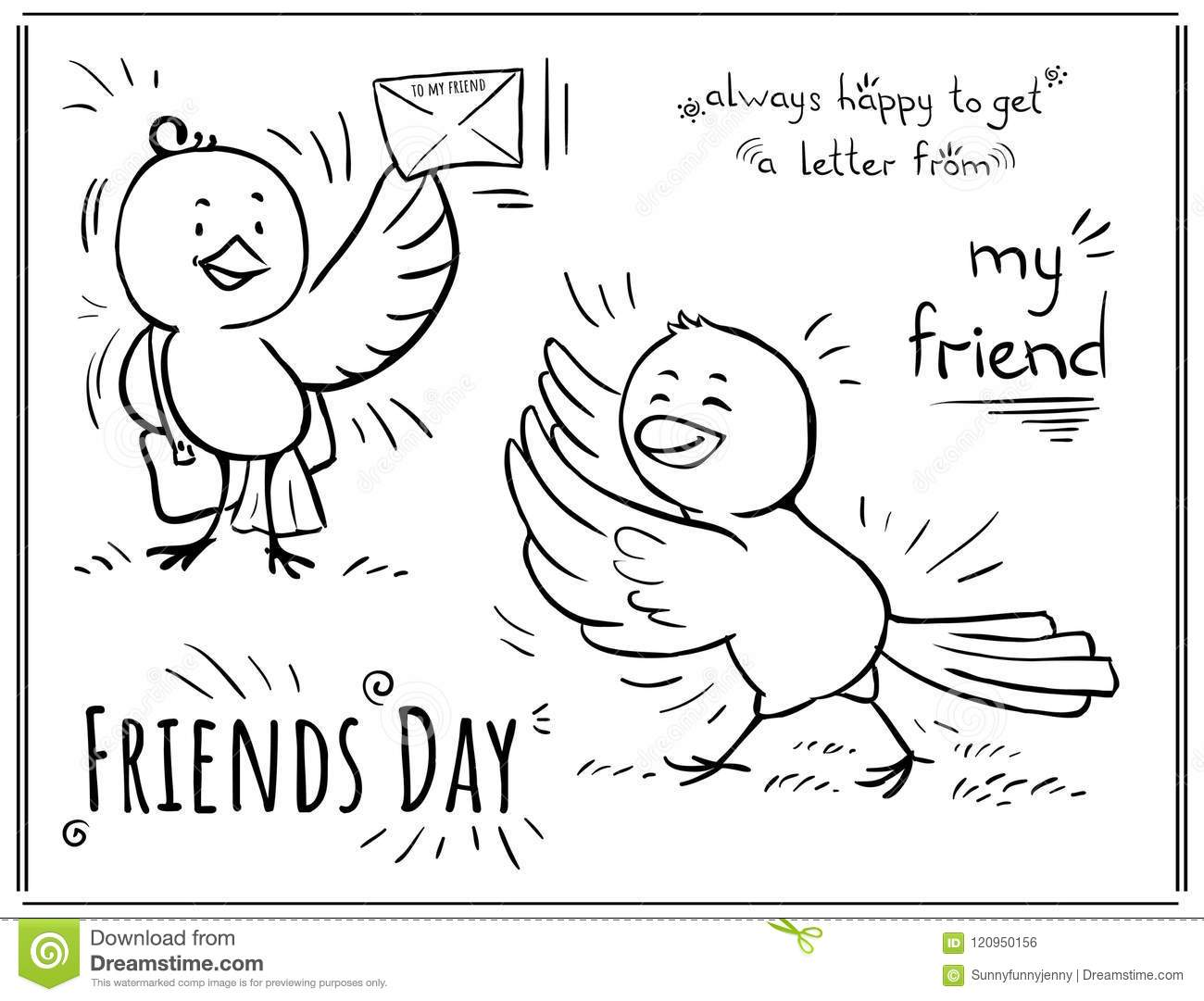Greeting Card Day Of Friendship - Happy To Get Letter Fro