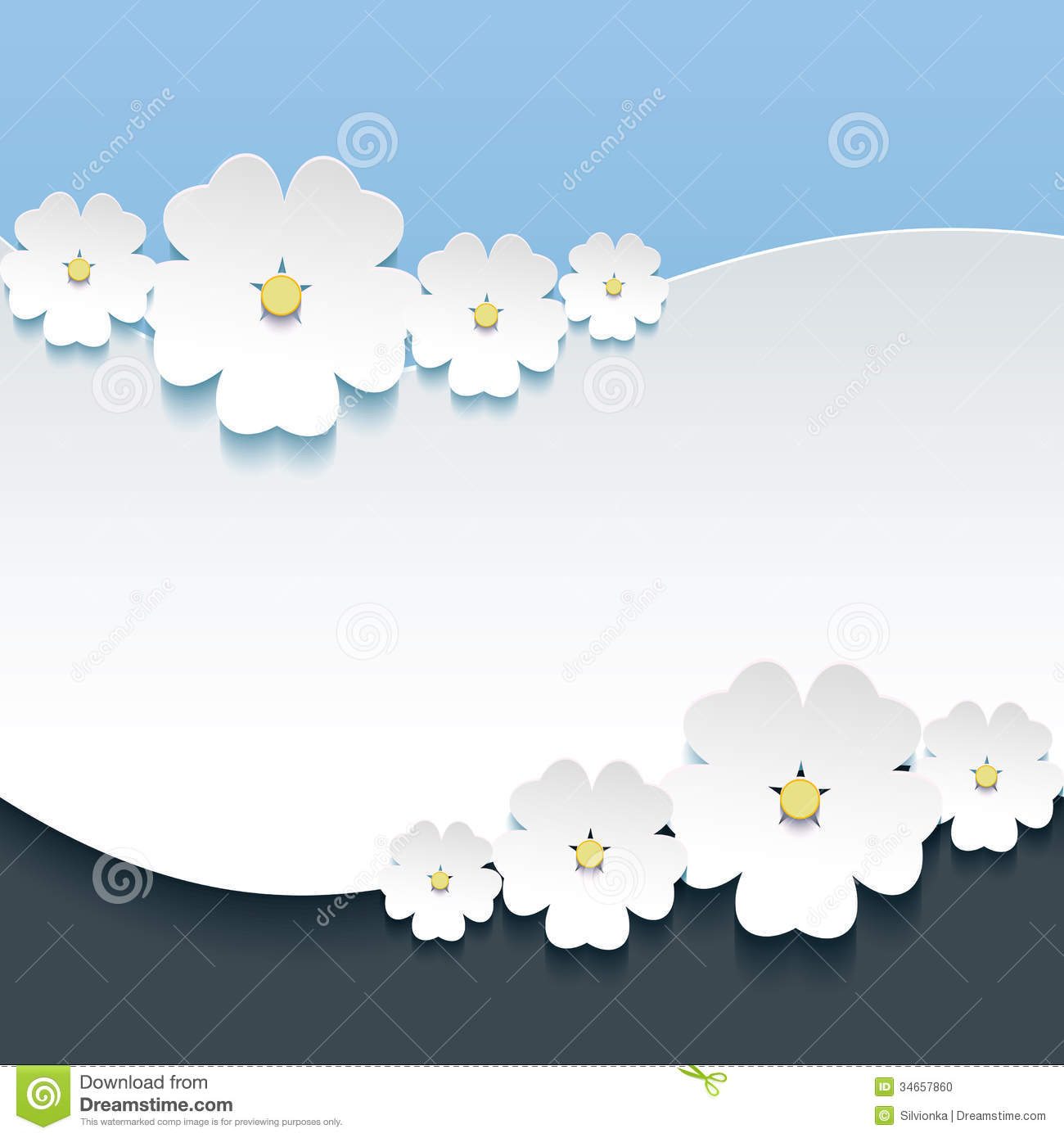 Greeting or invitation card with 3d flowers sakura stock vector greeting or invitation card with 3d flowers sakura stopboris Gallery