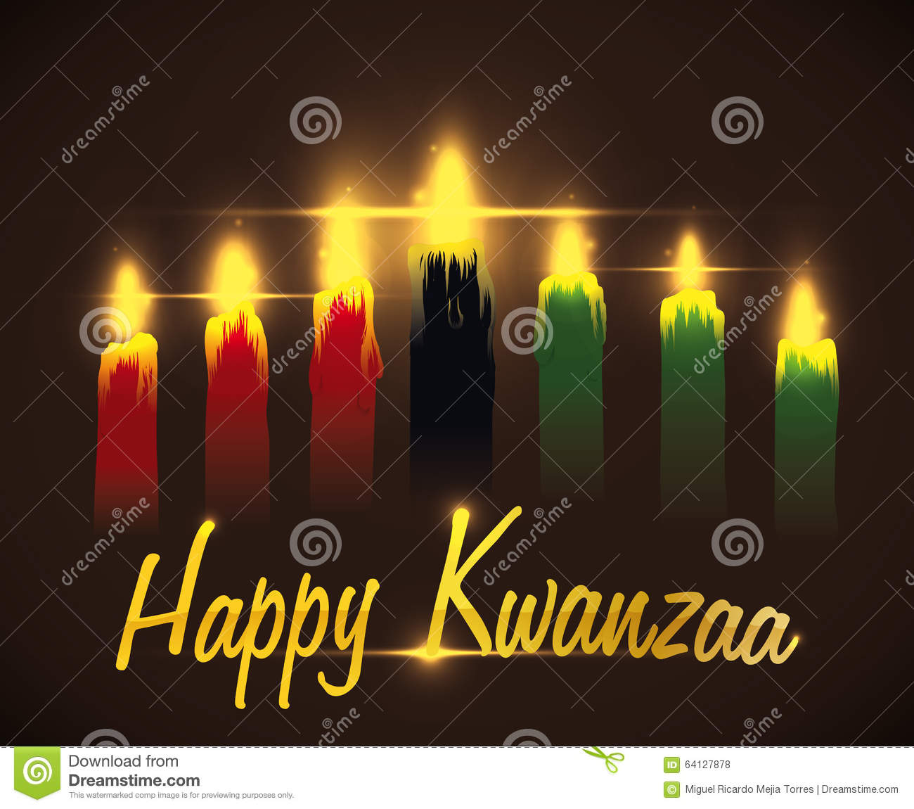 Greeting kwanzaa message with traditional candles vector greeting kwanzaa message with traditional candles vector illustration m4hsunfo