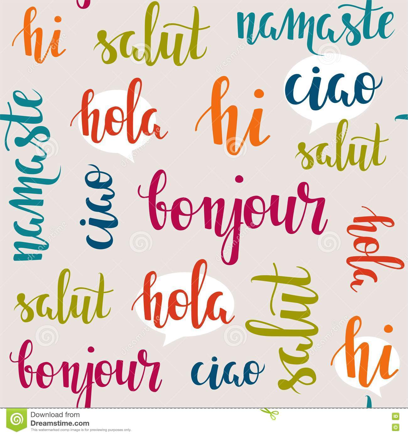 Greeting words in different languages stock vector illustration download greeting words in different languages stock vector illustration of dialog learn m4hsunfo