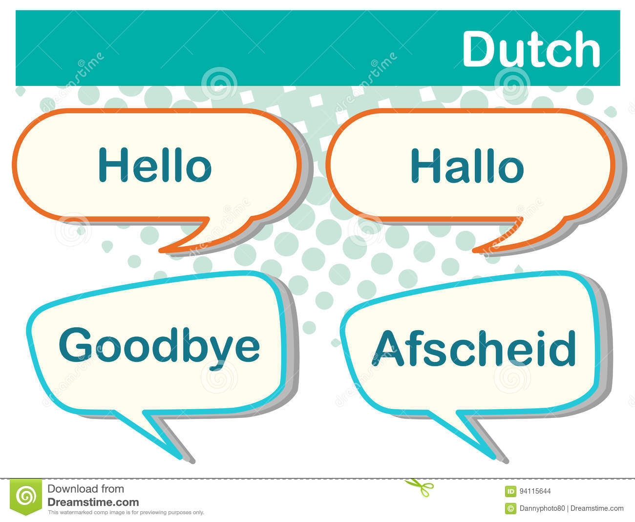 Greeting words in dutch language stock vector illustration of greeting words in dutch language kristyandbryce Gallery