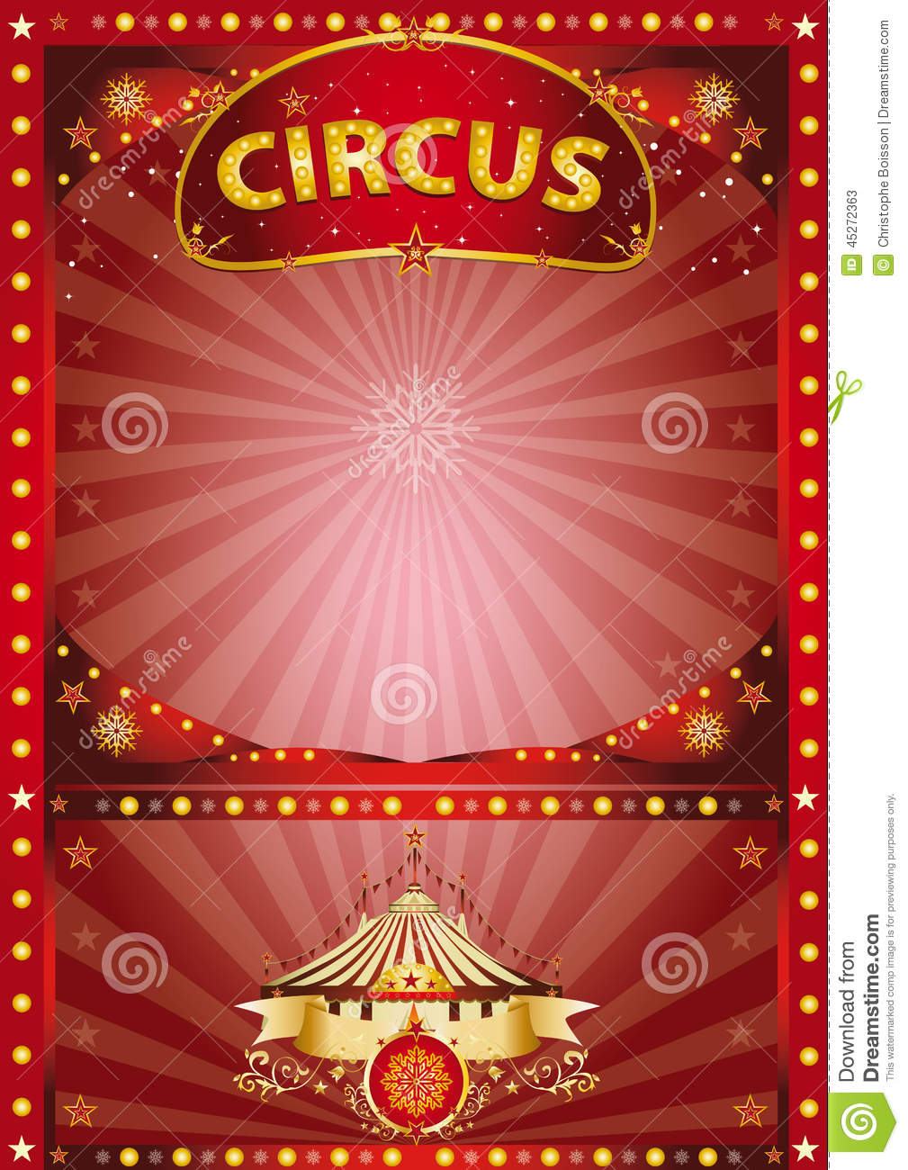 greeting xmas circus poster stock vector image 45272363. Black Bedroom Furniture Sets. Home Design Ideas
