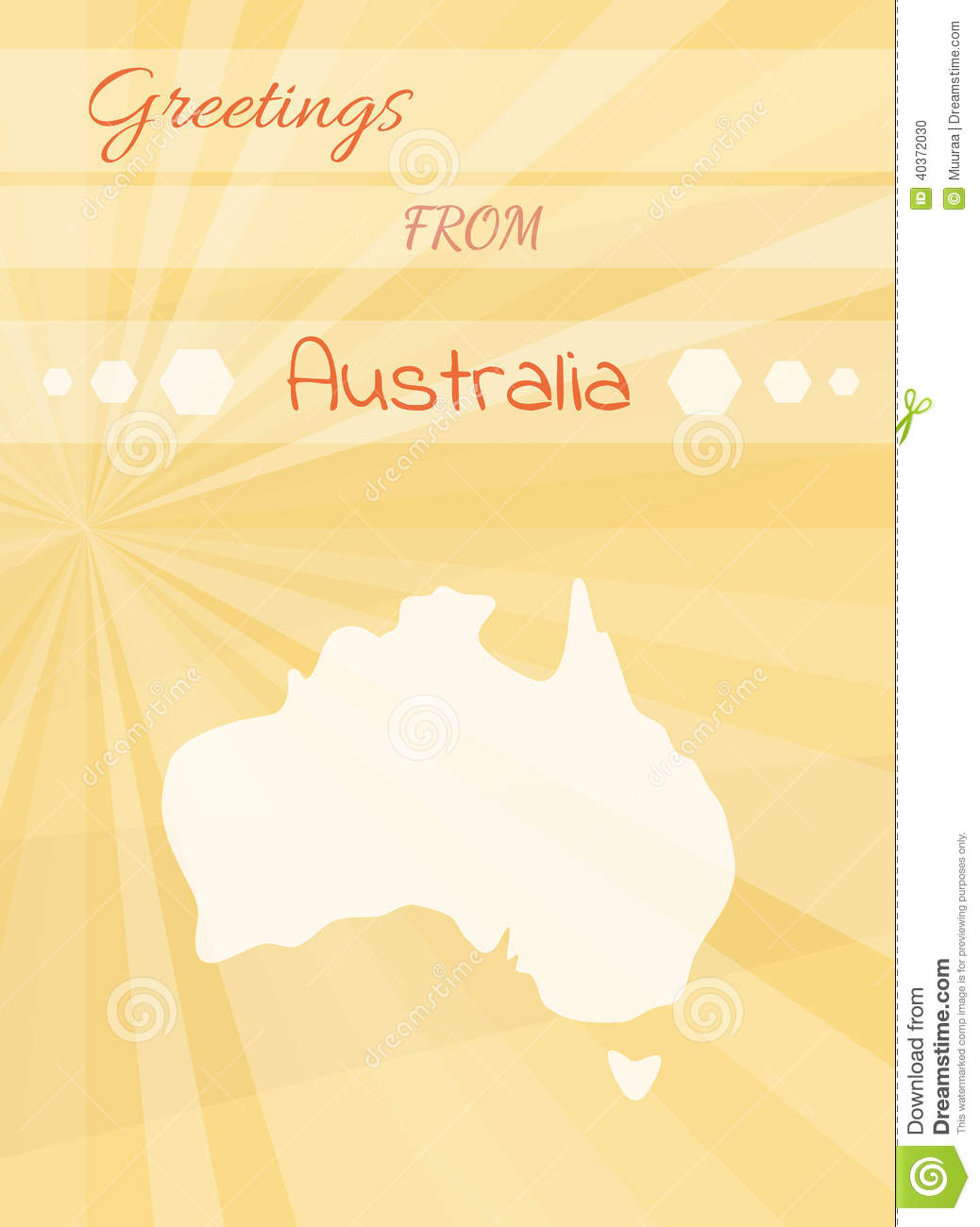 Greetings From Australia Stock Vector Illustration Of Tourism