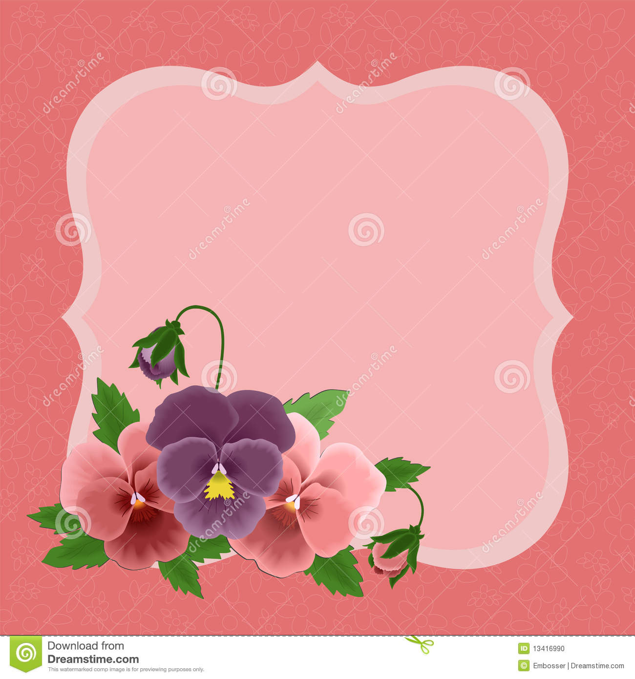Greetings Card For Mothers Day Stock Vector Illustration Of
