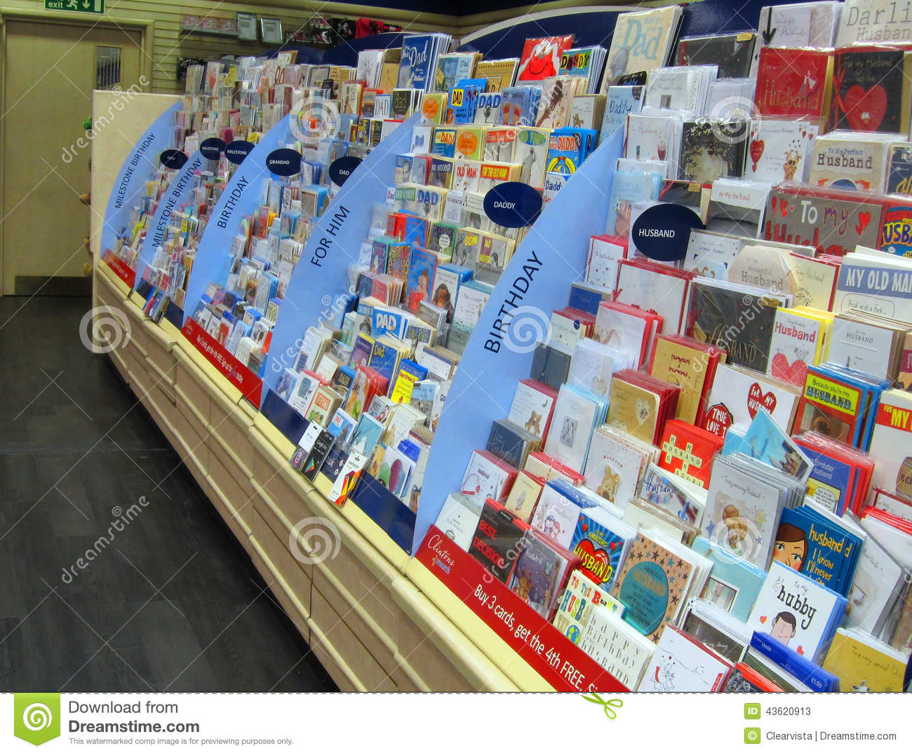 Greetings Cards In A Store