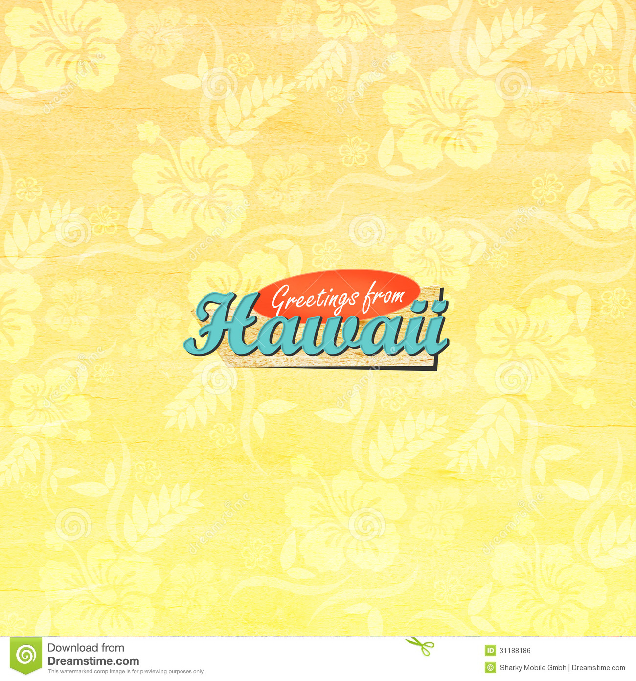 Greetings from hawaii stock illustration illustration of flowers greetings from hawaii kristyandbryce Choice Image
