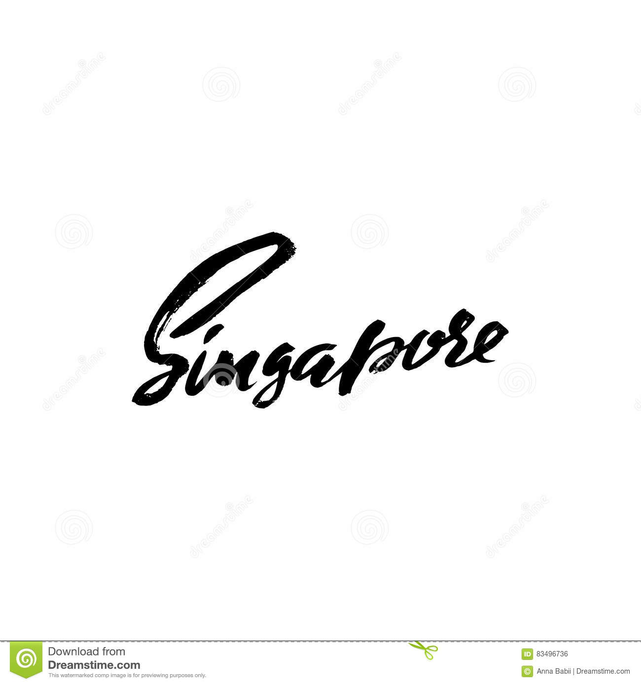 Greetings from singapore greeting card with typography