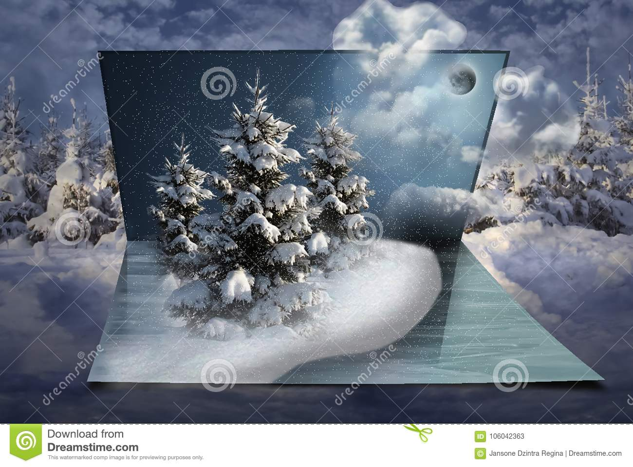 New Year Fantasy In My Sweet Dreams Christmas Stock Illustration