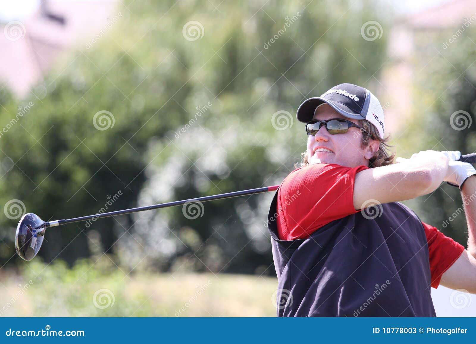 Gregor Slabe bij het golf Prevens Trpohee 2009