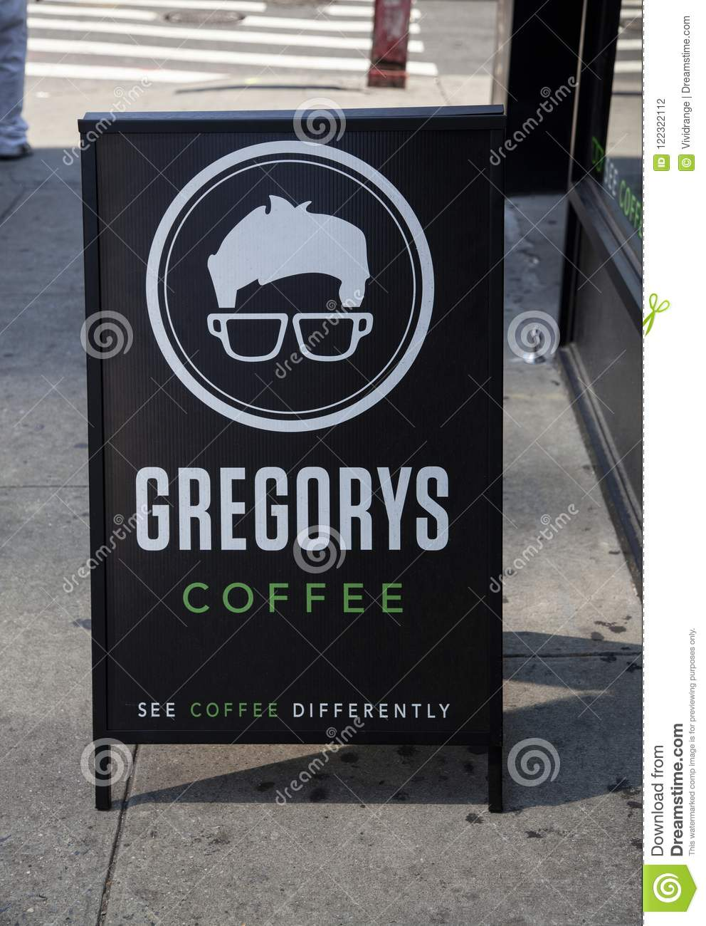 Gregory Coffee Shop in New York, U.S.A.