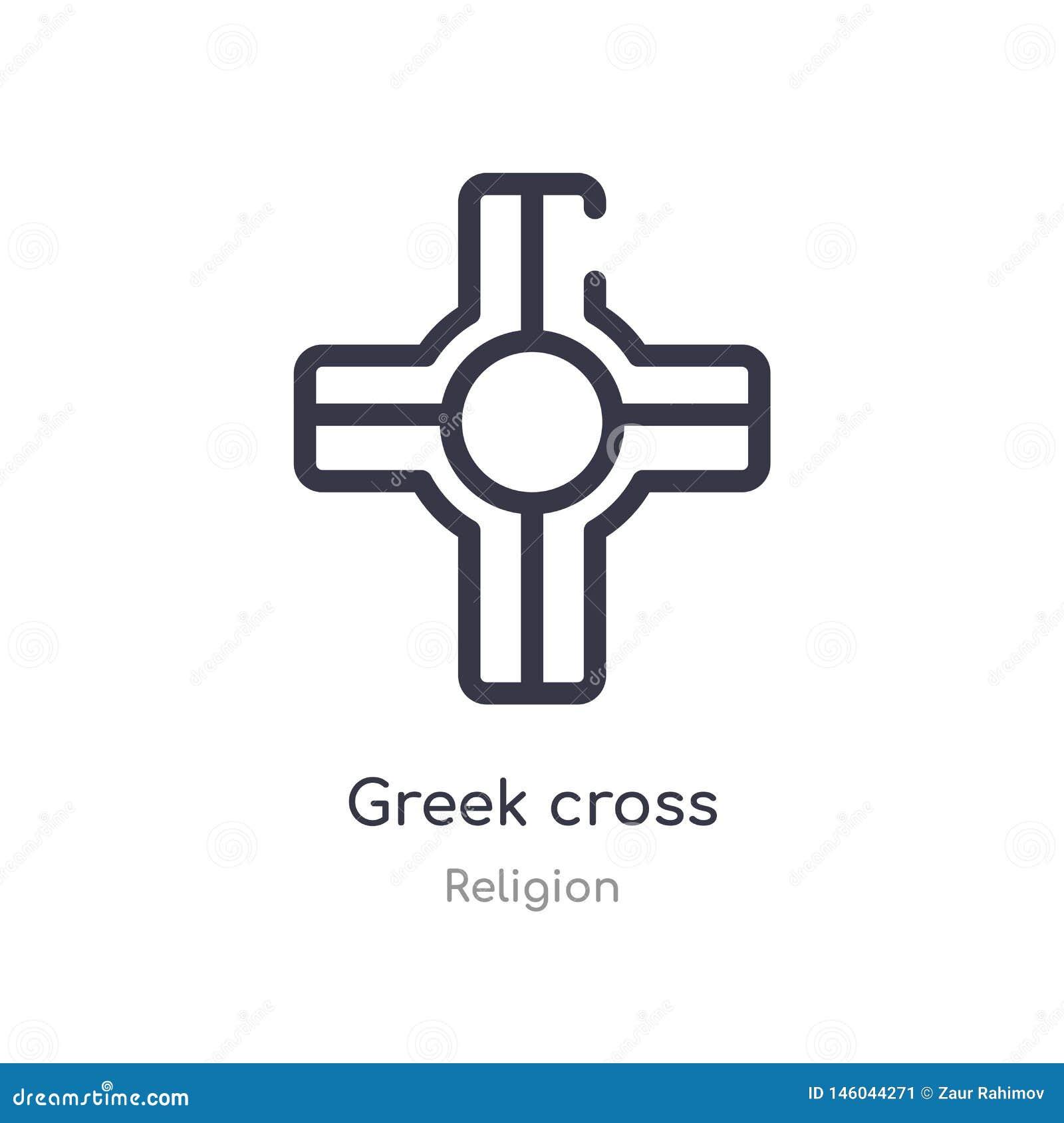 Grekisk arg översiktssymbol isolerad linje vektorillustration fr?n religionsamling grekisk arg symbol för redigerbar tunn slaglän