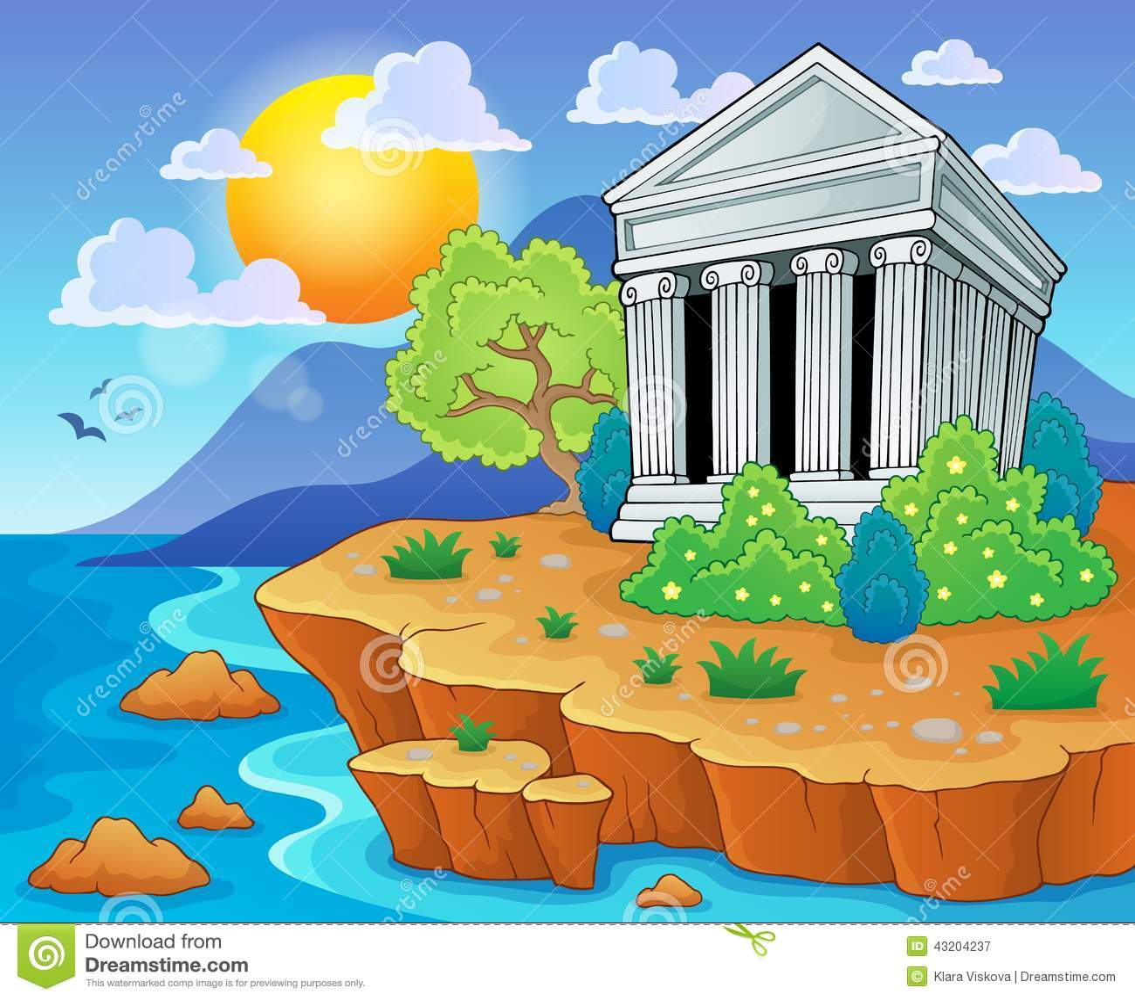 Download Grekisk temabild 3 vektor illustrationer. Illustration av monument - 43204237