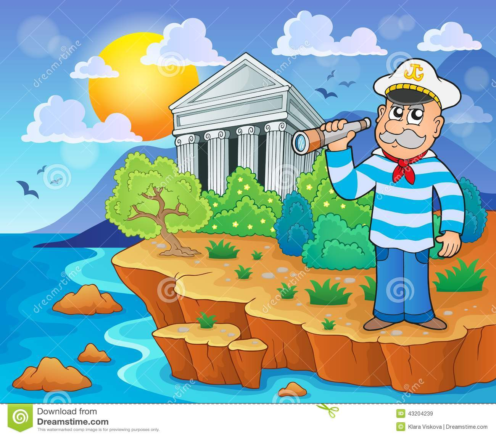 Download Grekisk temabild 4 vektor illustrationer. Illustration av seashore - 43204239