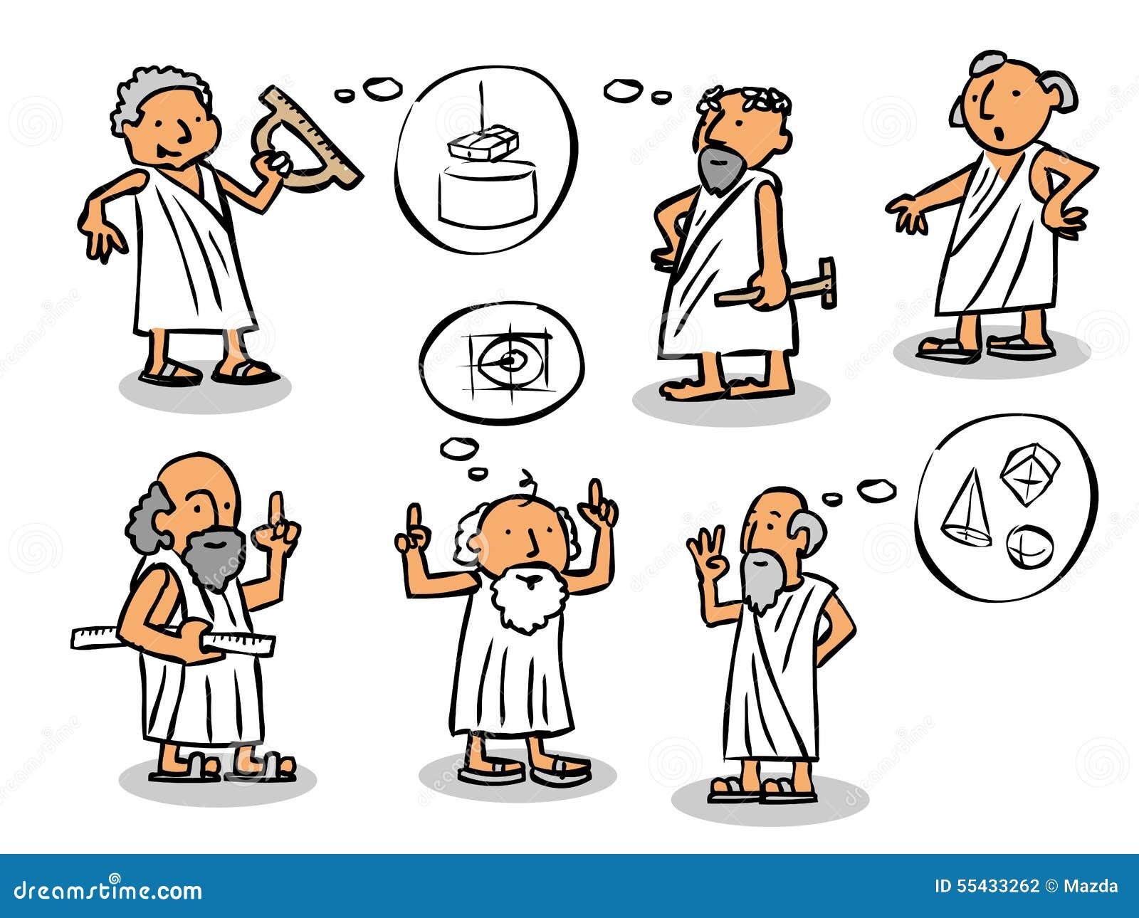 Grekiska Filosofer Stock Illustrationer  Illustration Av Find
