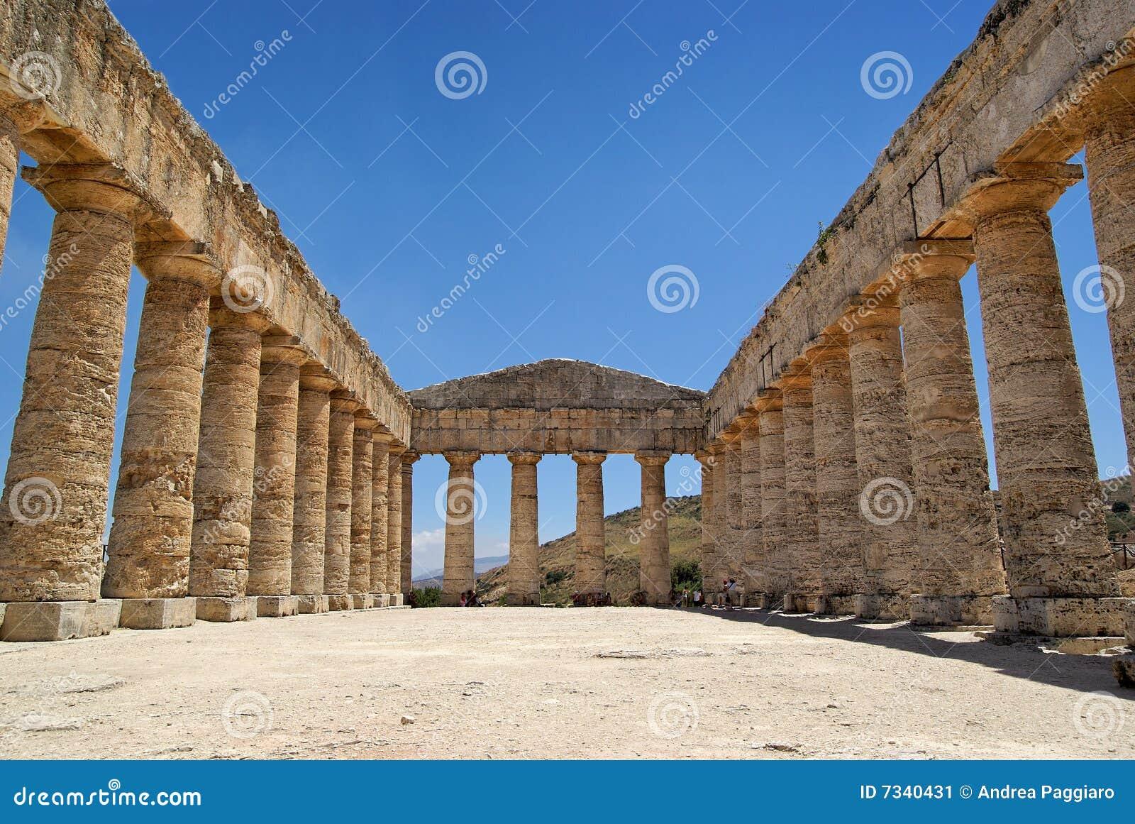 Grekiskt italy segestasicily tempel