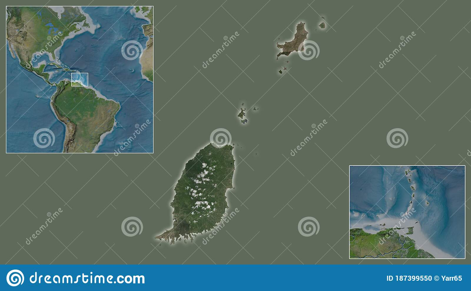 Picture of: Grenada Satellite Country And Its Location Stock Illustration Illustration Of Continent Shoreline 187399550