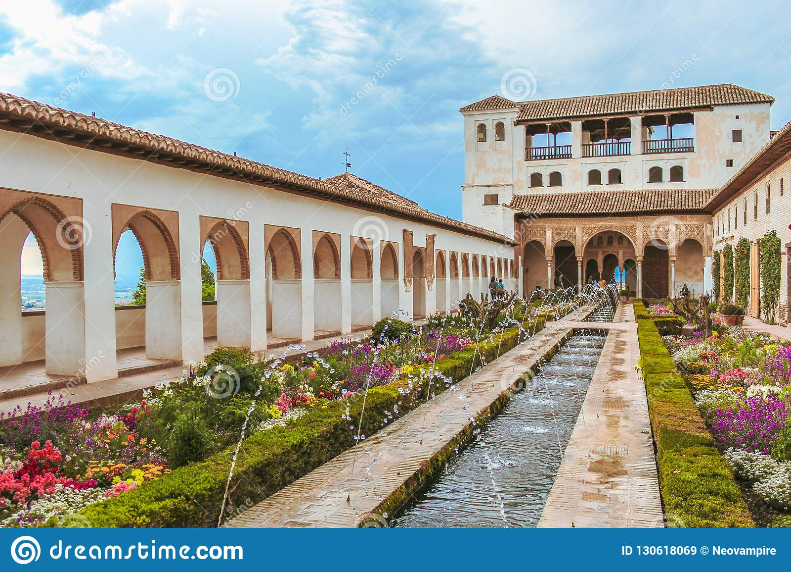 Grenade, Espagne - 5/6/18 : Jardins de Generalife
