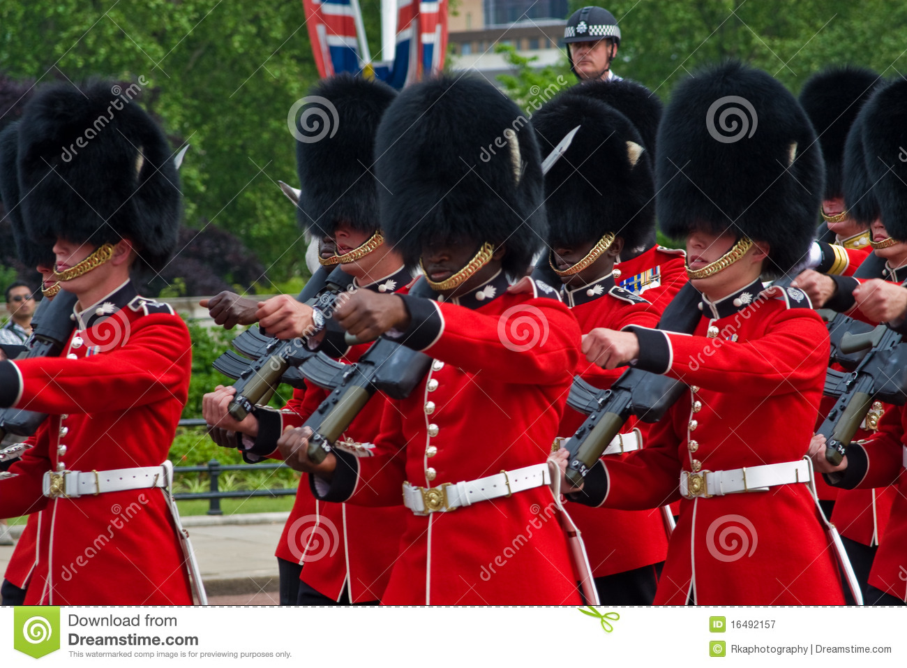Grenadier Guards Marching In London Editorial Photography