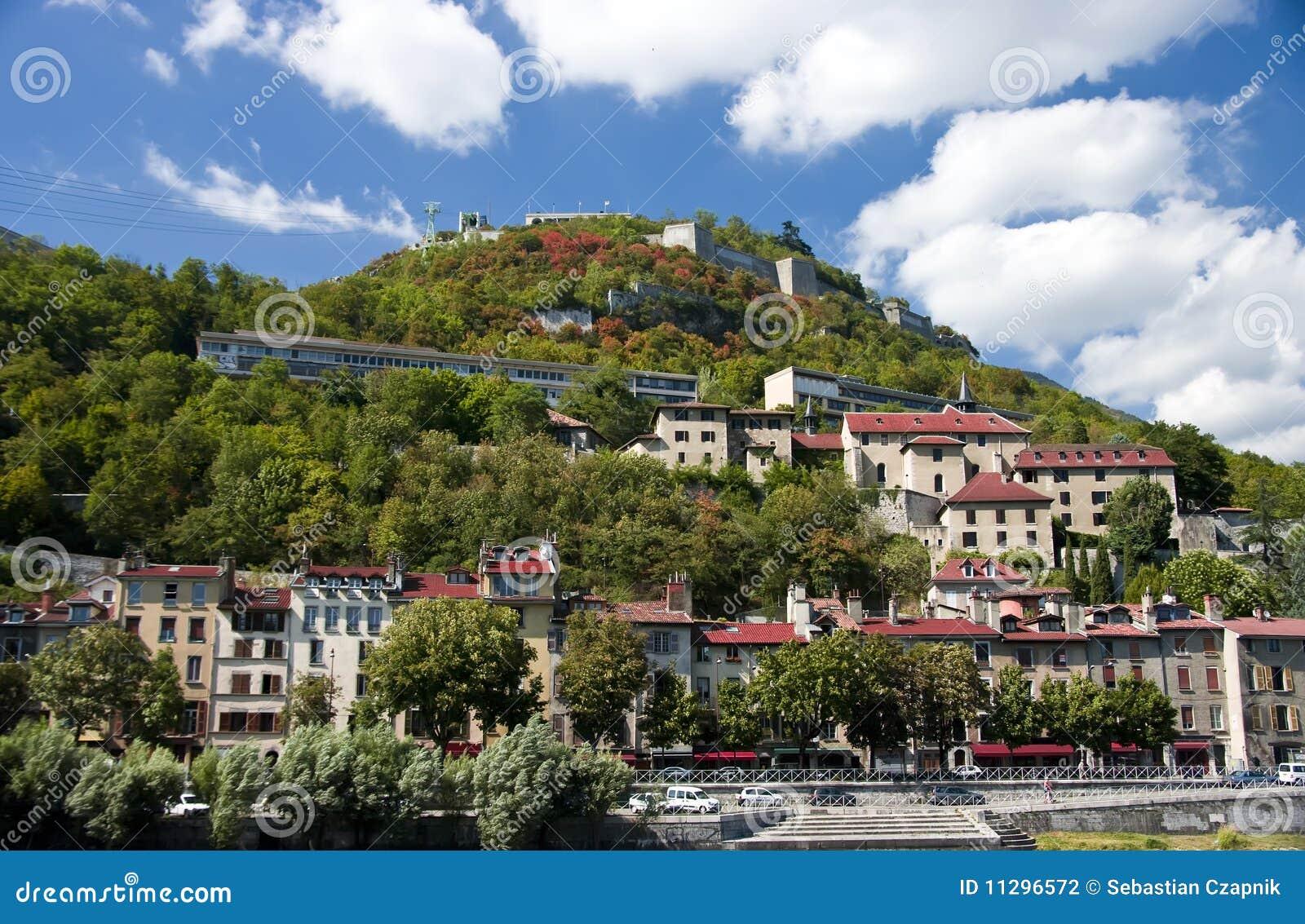 grenoble bastille stock photo image of roofs french 11296572. Black Bedroom Furniture Sets. Home Design Ideas