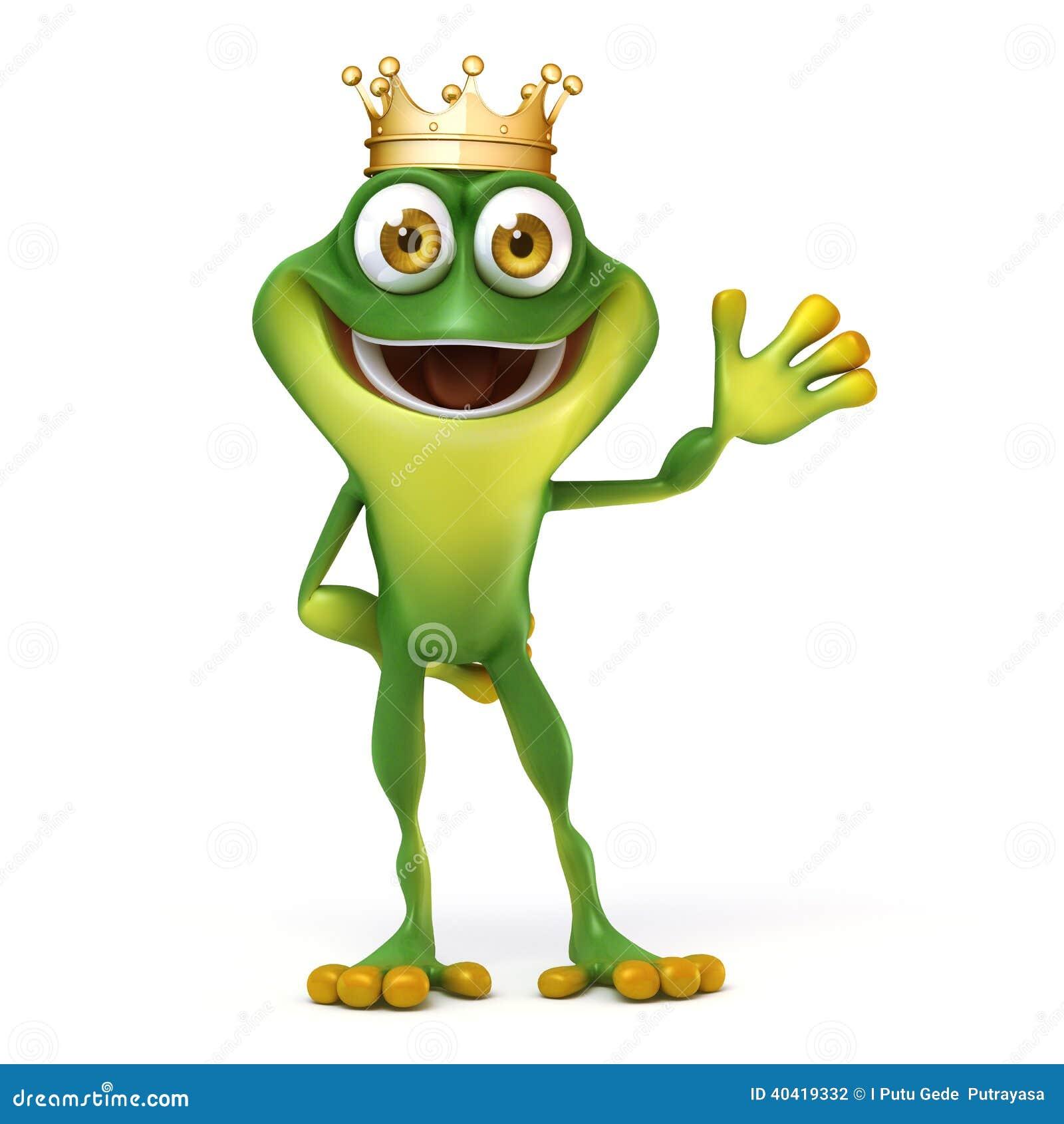 Grenouille Couronne grenouille avec la couronne illustration stock - illustration du