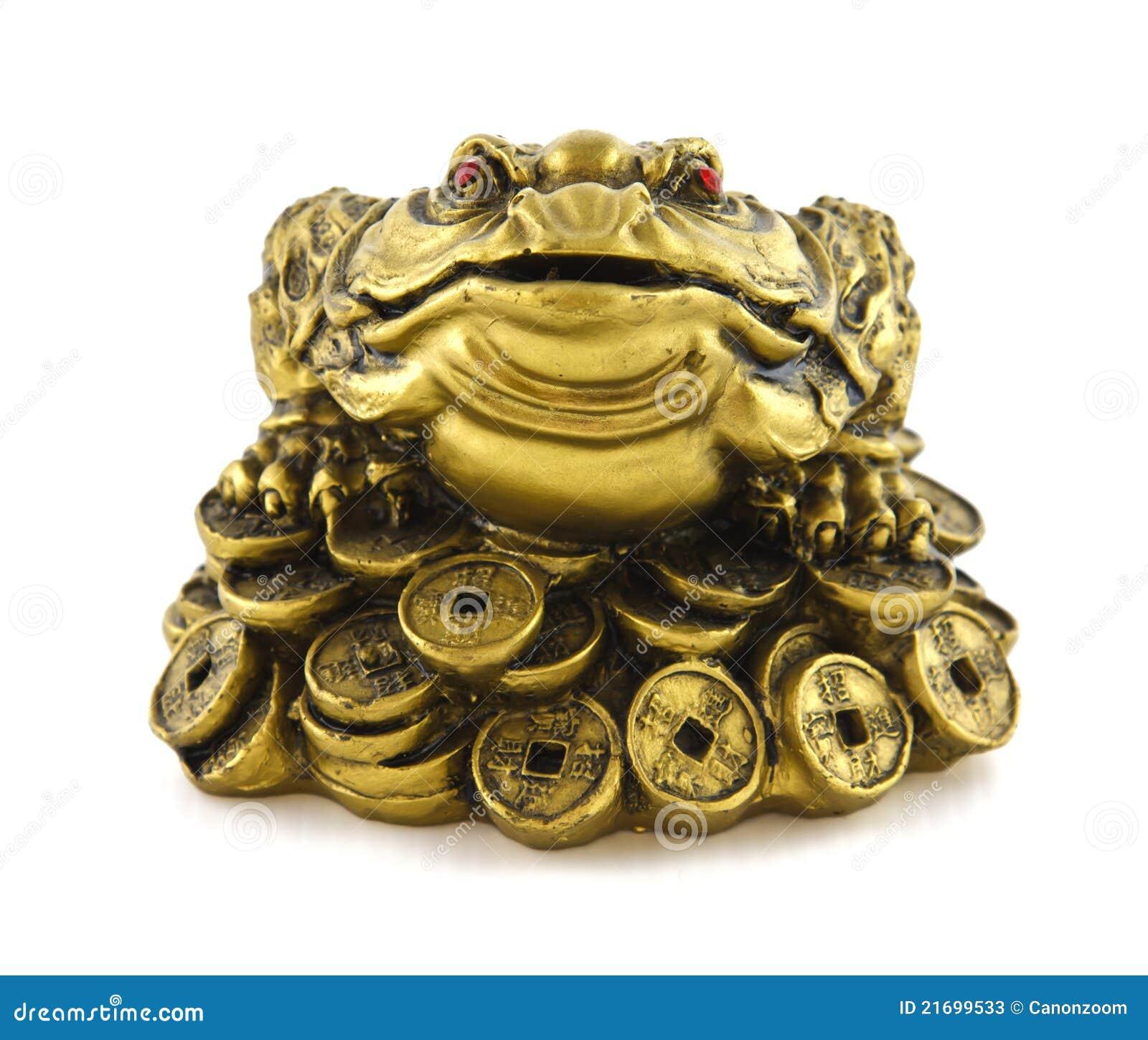 grenouille chanceuse chinoise d 39 argent de feng shui pour la bonne chance image stock image du. Black Bedroom Furniture Sets. Home Design Ideas