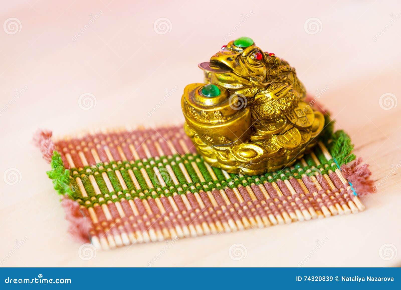 Feng Shui Argent grenouille d'argent de feng shui de chinois pour la bonne chance et