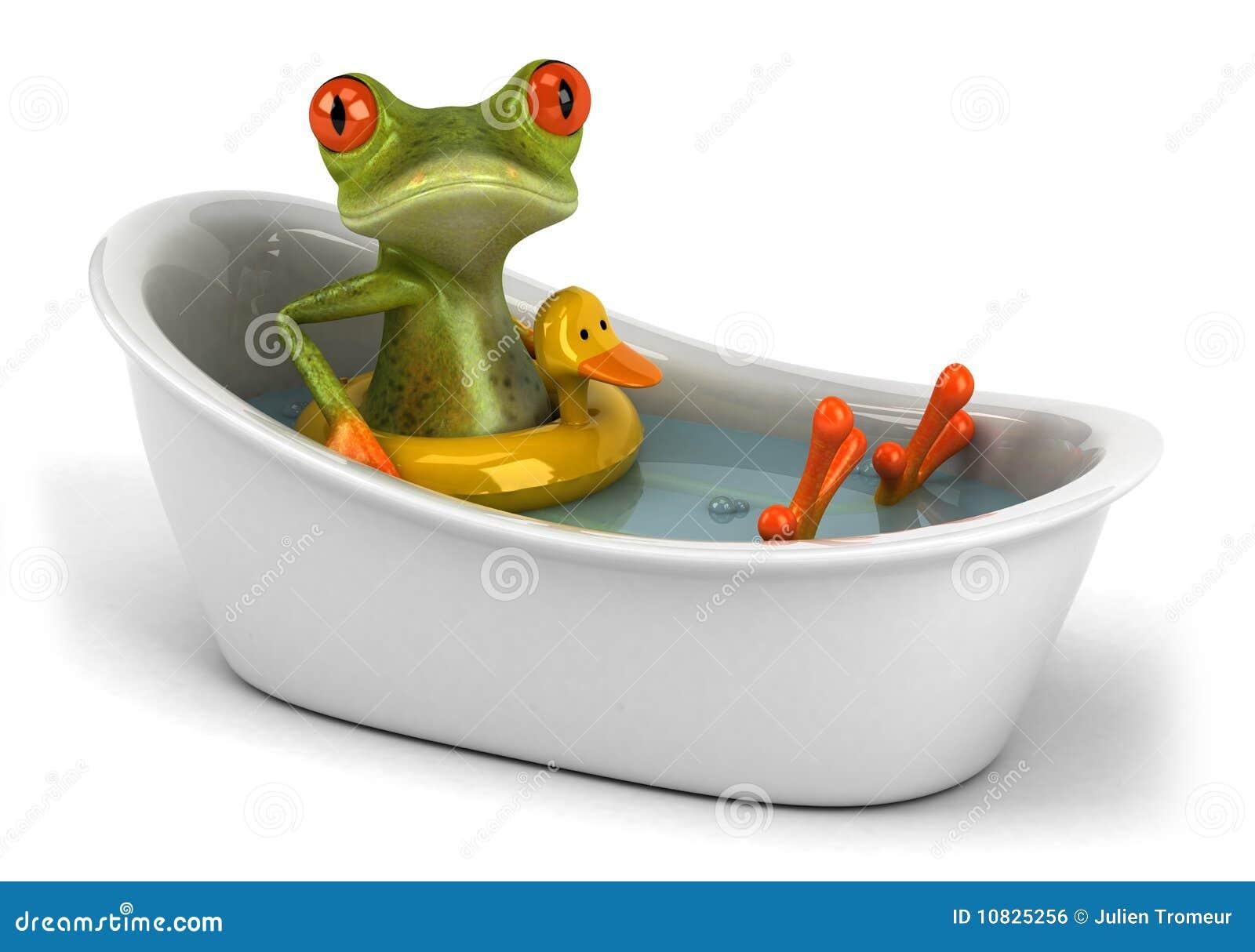Grenouille dans un bain image libre de droits image 10825256 for Photo dans un bain
