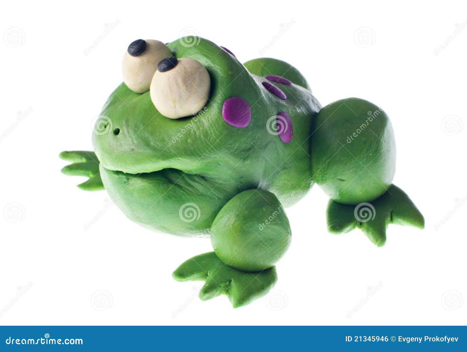 grenouille de p 226 te 224 modeler image libre de droits image 21345946