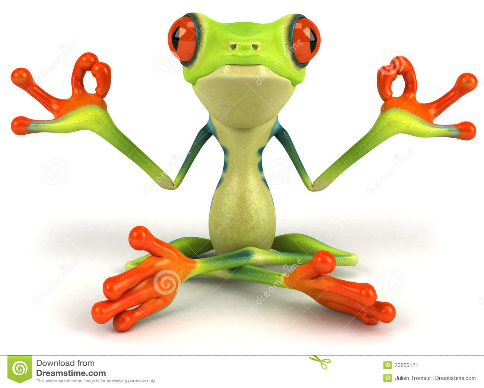 grenouille de zen image stock