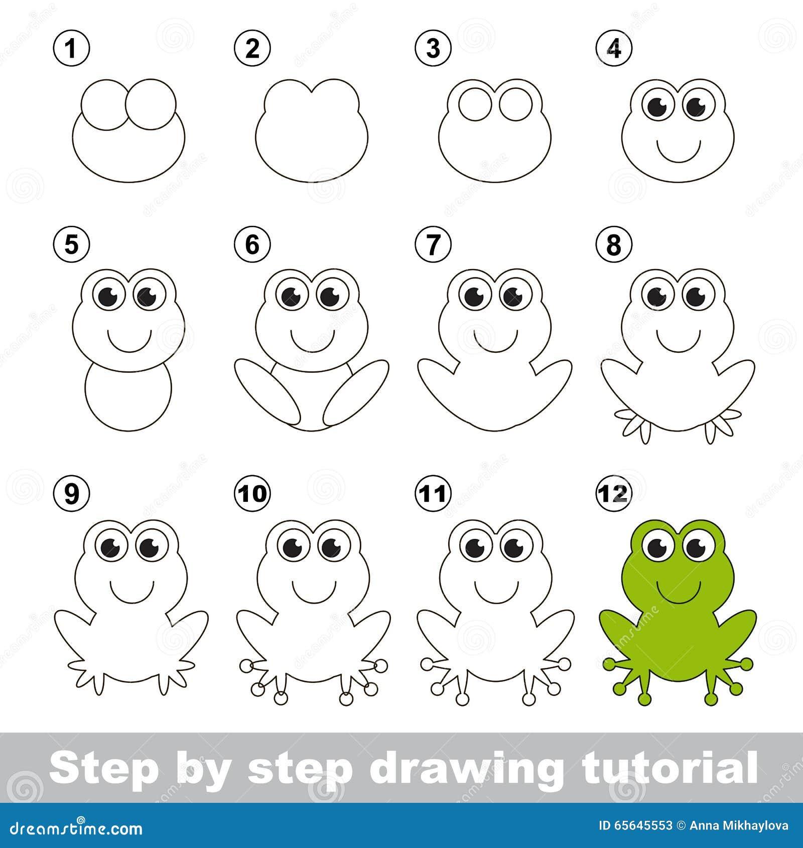 grenouille verte cours de dessin illustration de vecteur. Black Bedroom Furniture Sets. Home Design Ideas